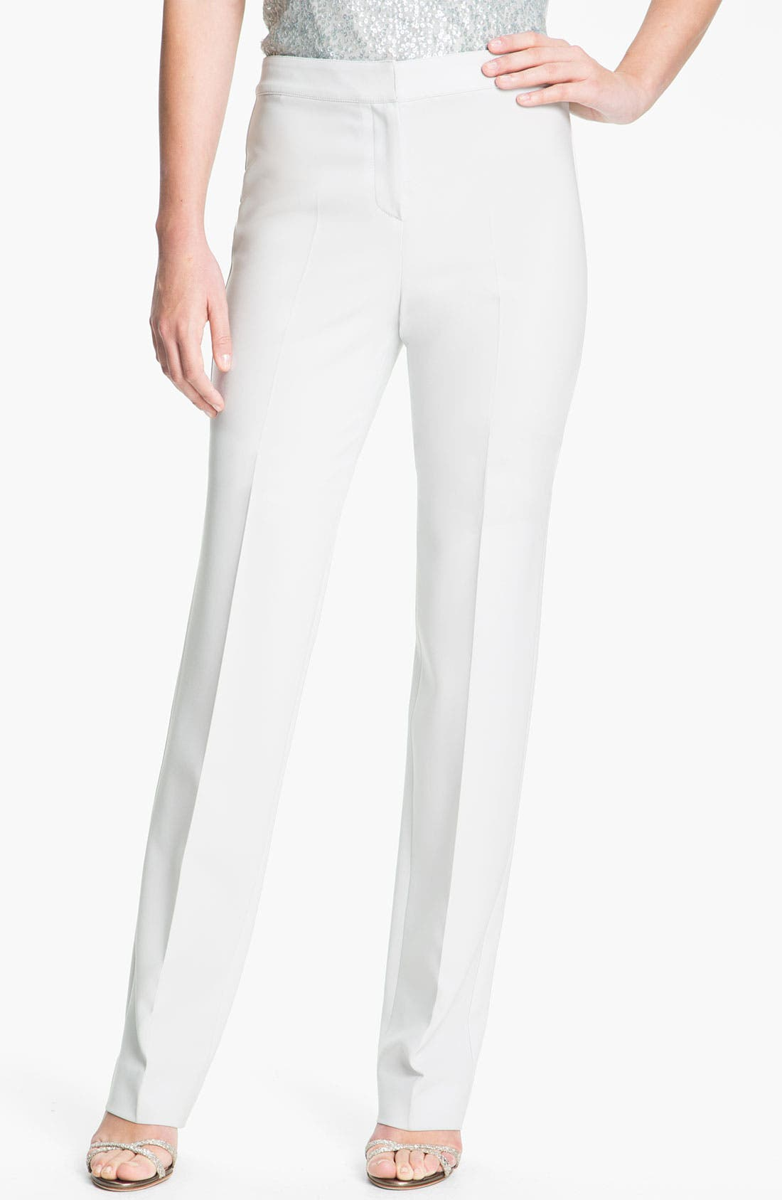 Main Image - St. John Collection Crepe Marocain Pants