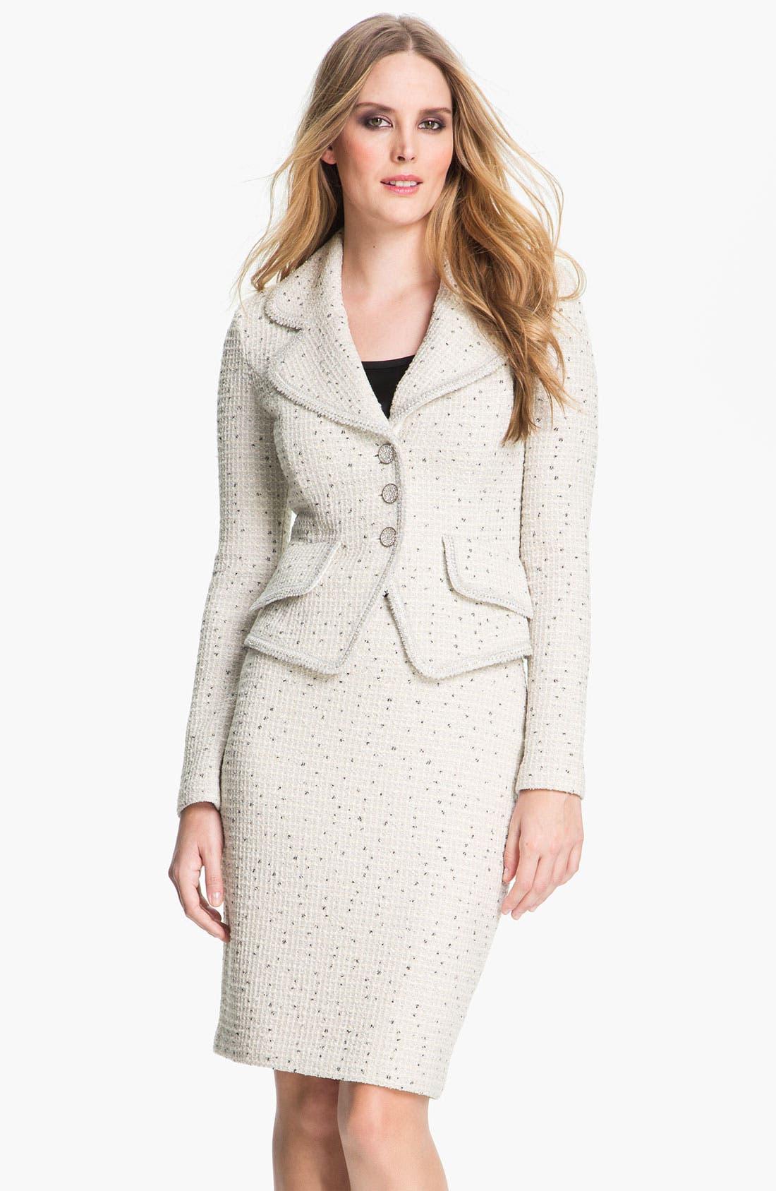 Alternate Image 2  - St. John Collection Shimmer Dot Tweed Jacket