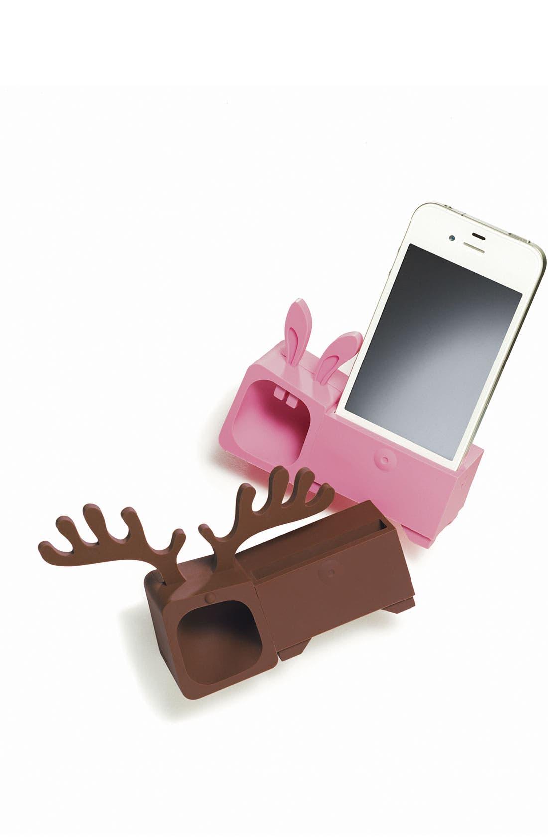 Alternate Image 2  - Ozaki 'O! Music Zoo - Rabbit' iPhone 4 & 4S Stand & Amp