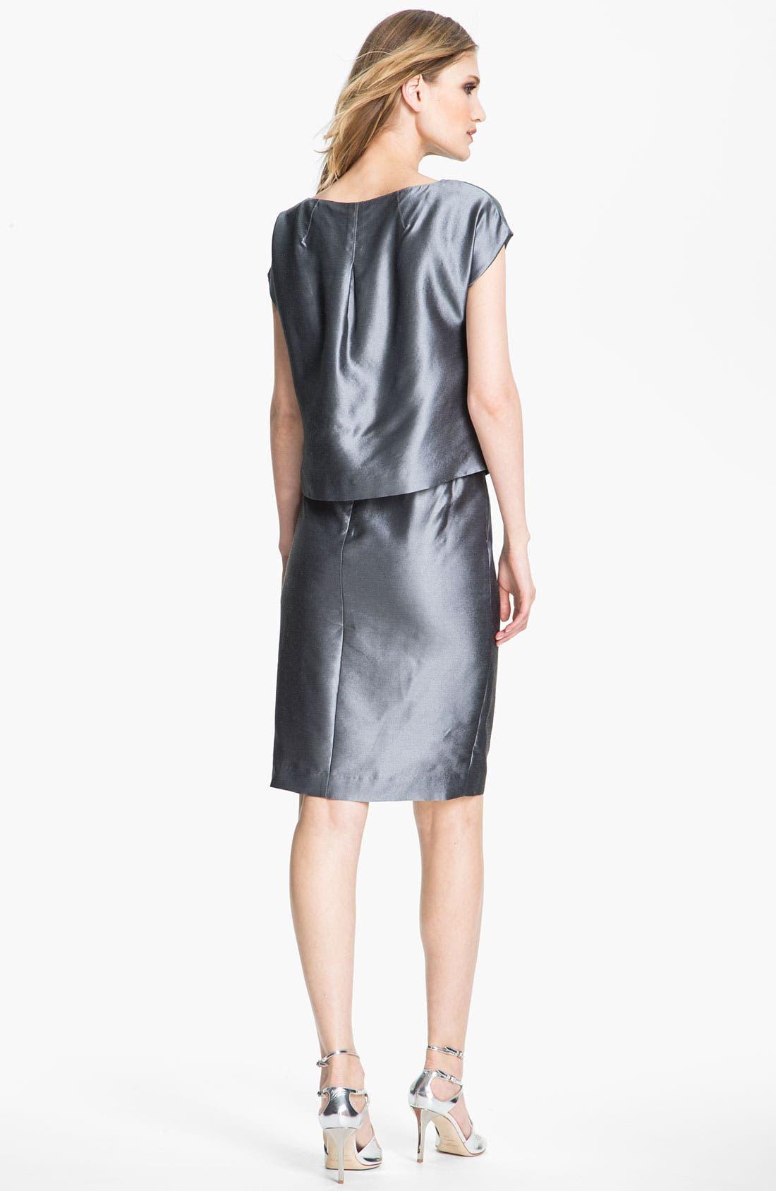 Alternate Image 4  - St. John Collection Taffeta Skirt