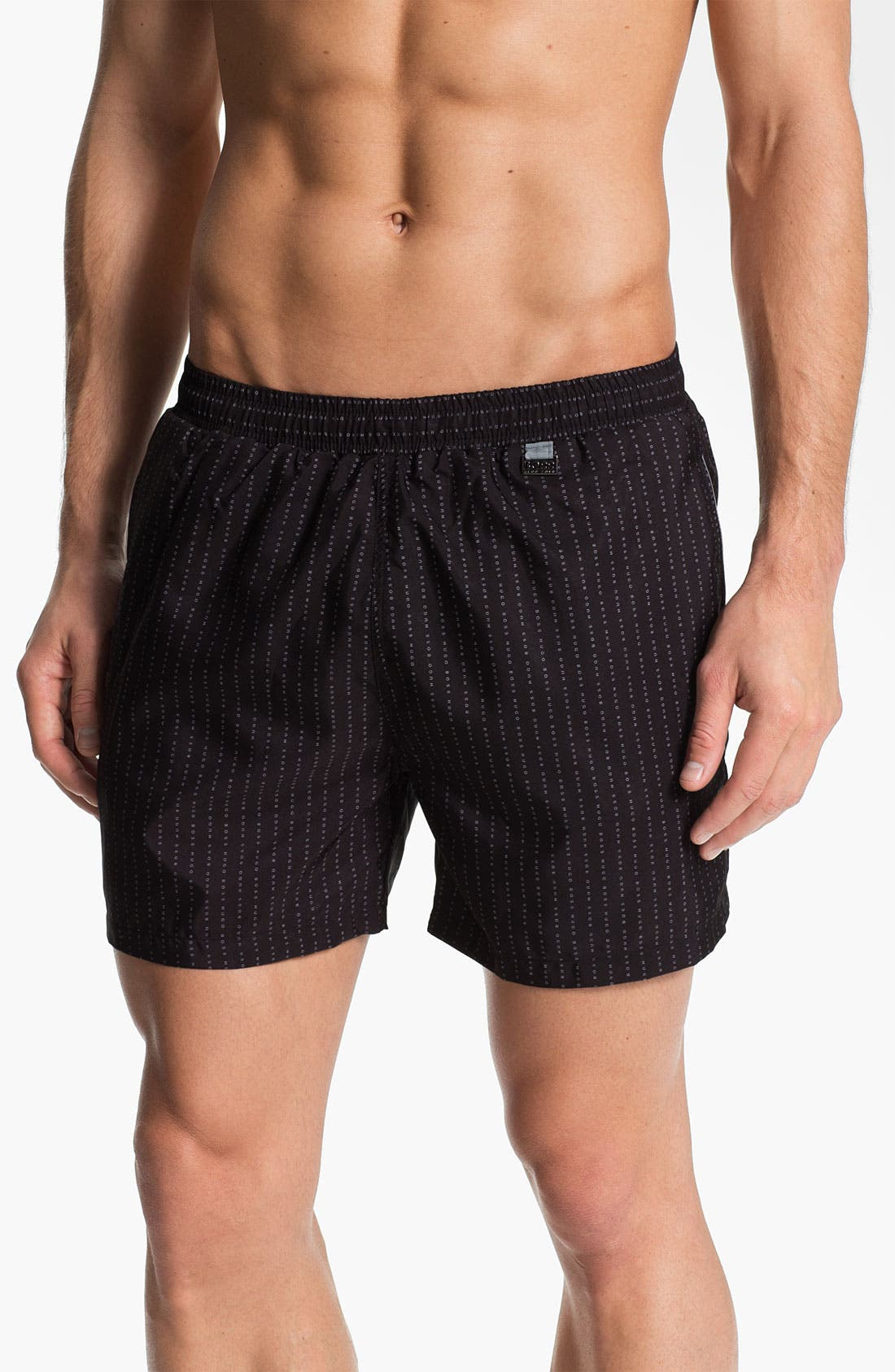 Alternate Image 1 Selected - BOSS Black 'Jewelfish' Swim Trunks