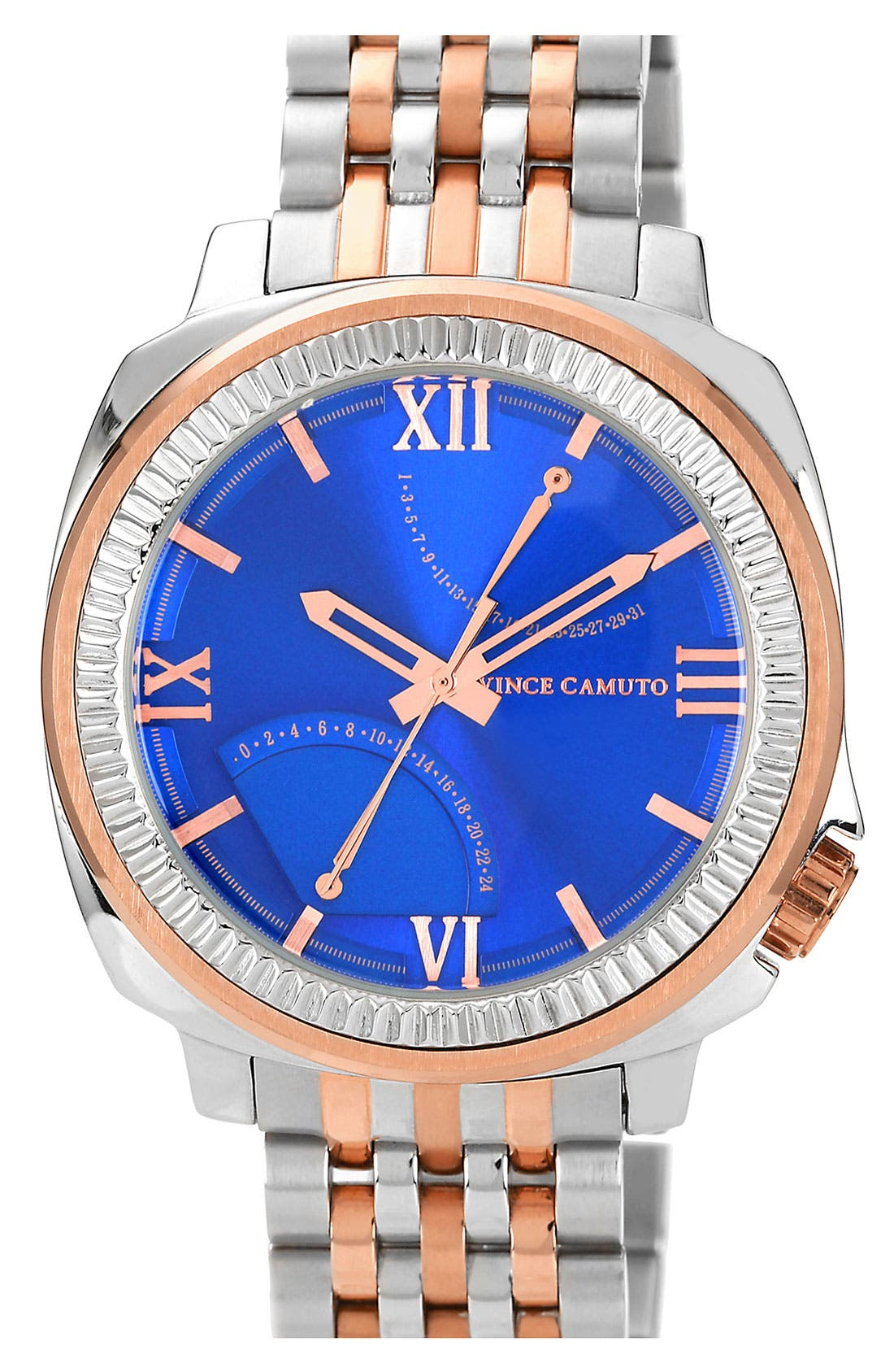 Alternate Image 1 Selected - Vince Camuto Flyback Dial Bracelet Watch, 43mm