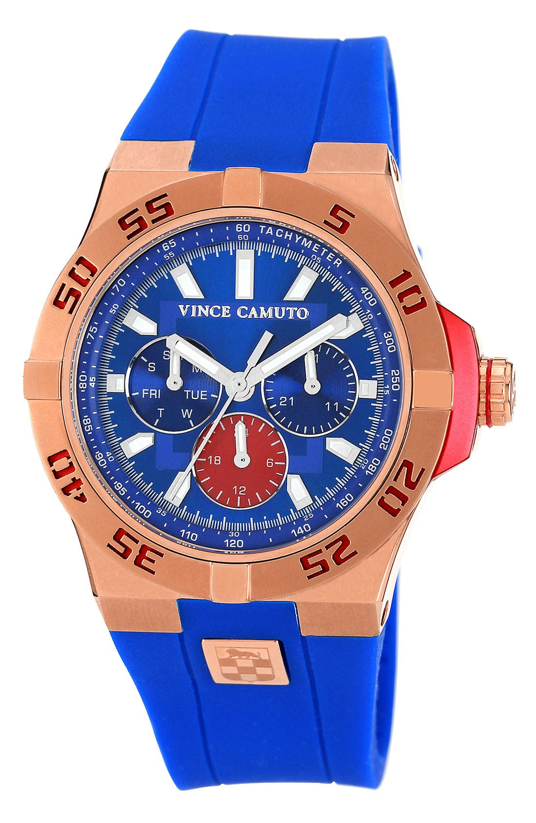 Alternate Image 1 Selected - Vince Camuto Silicone Strap Watch, 43mm