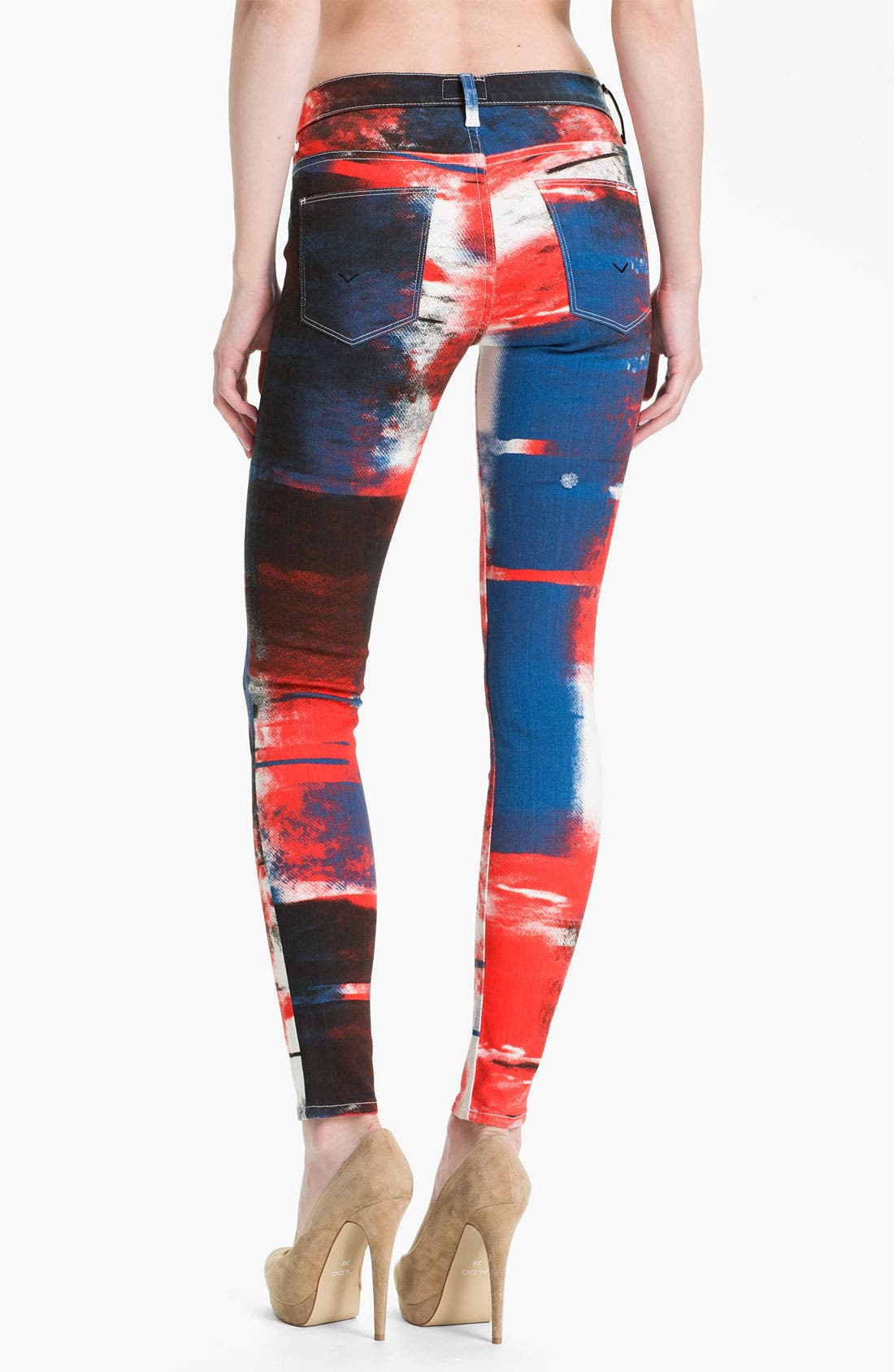 Alternate Image 2  - Hudson Jeans 'Nico' Skinny Overdyed Jeans (Abstract)