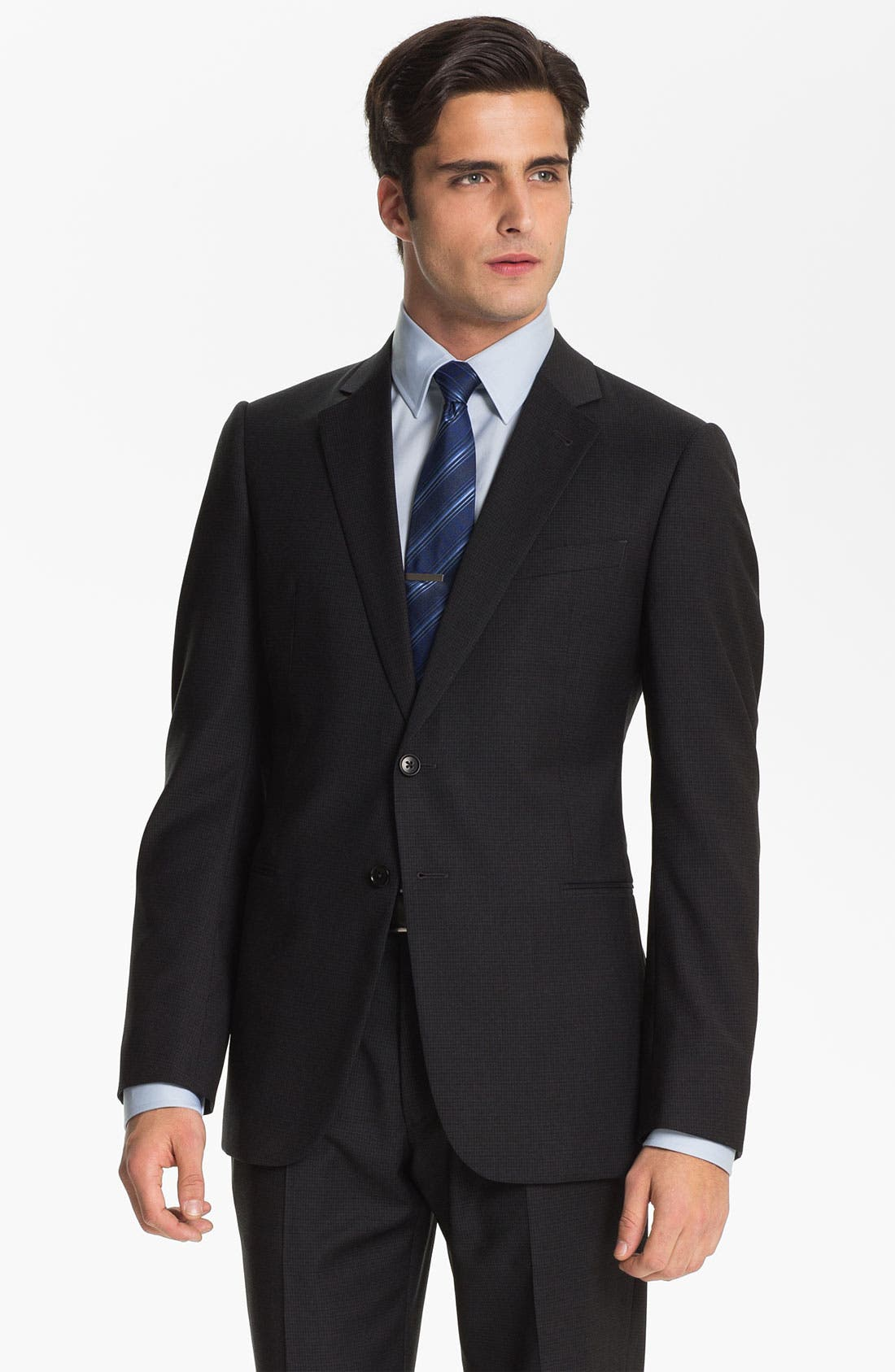 Alternate Image 1 Selected - Armani Collezioni Trim Fit Wool Suit