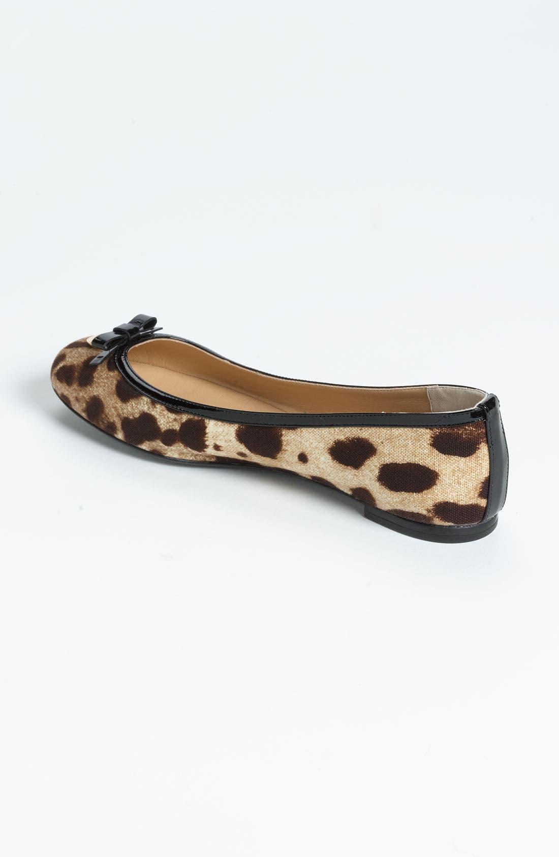 Alternate Image 2  - Dolce&Gabbana Leopard Print Ballet Flat