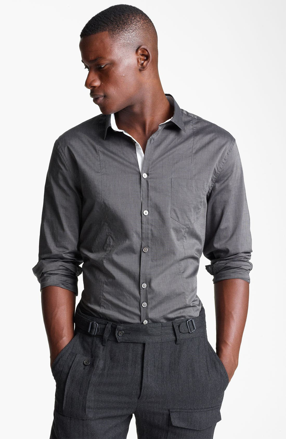 Alternate Image 1 Selected - John Varvatos Collection Slim Fit Stripe Shirt