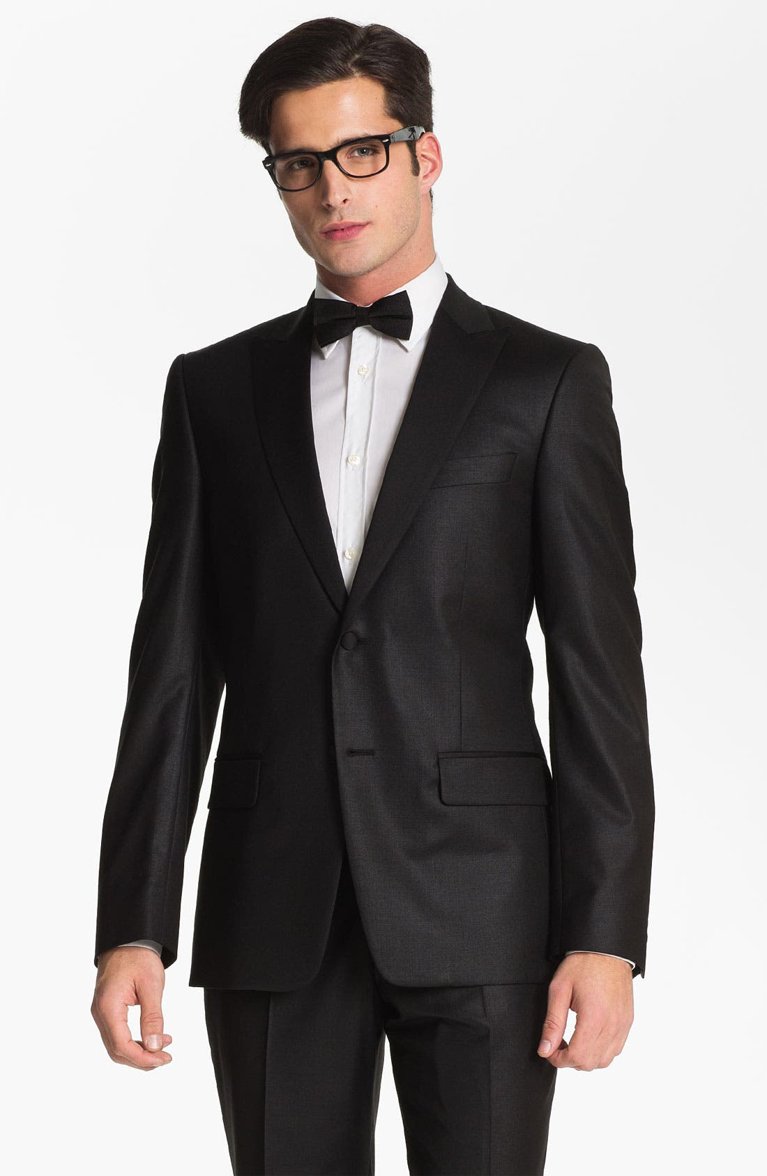 Alternate Image 4  - Versace Collection City Fit Tuxedo (Online Only)