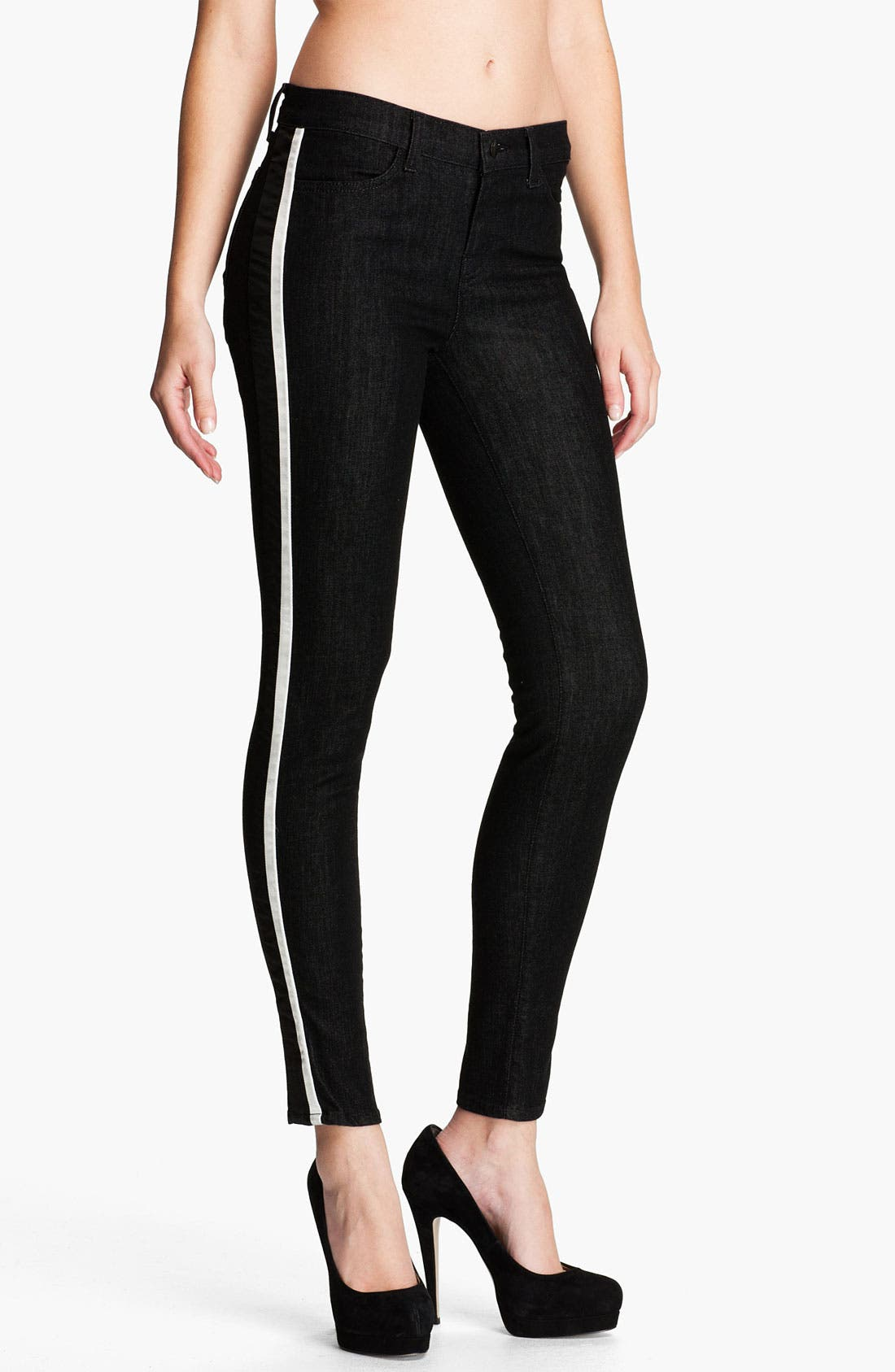 Alternate Image 1 Selected - J Brand 'Rowan' Stripe Skinny Jeans (Tux)