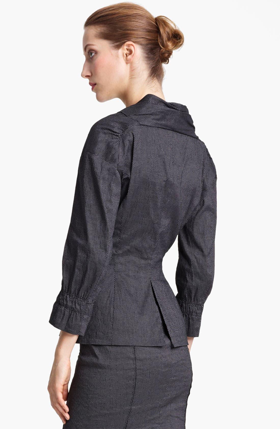 Alternate Image 2  - Nina Ricci Zip Front Pin Dot Jacket