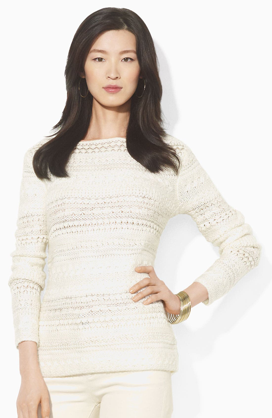Alternate Image 1 Selected - Lauren Ralph Lauren Bateau Neck Sweater