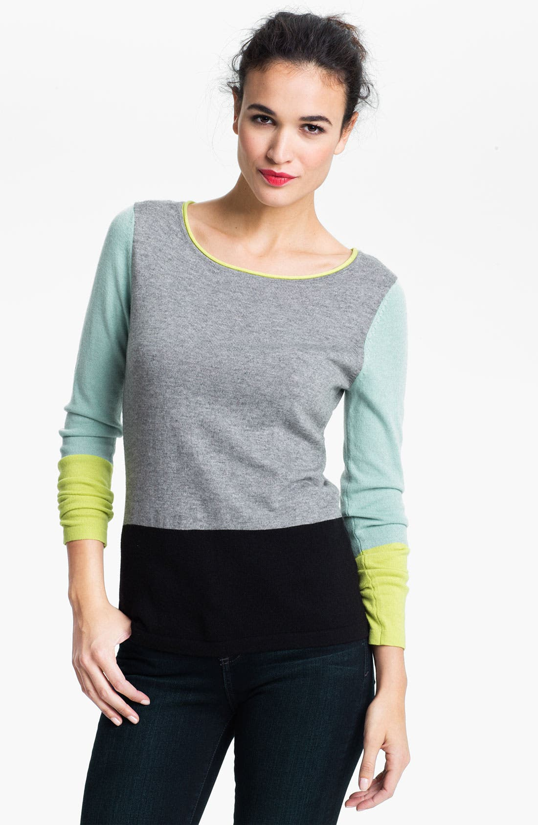 Alternate Image 1 Selected - Vince Camuto Colorblock Sweater