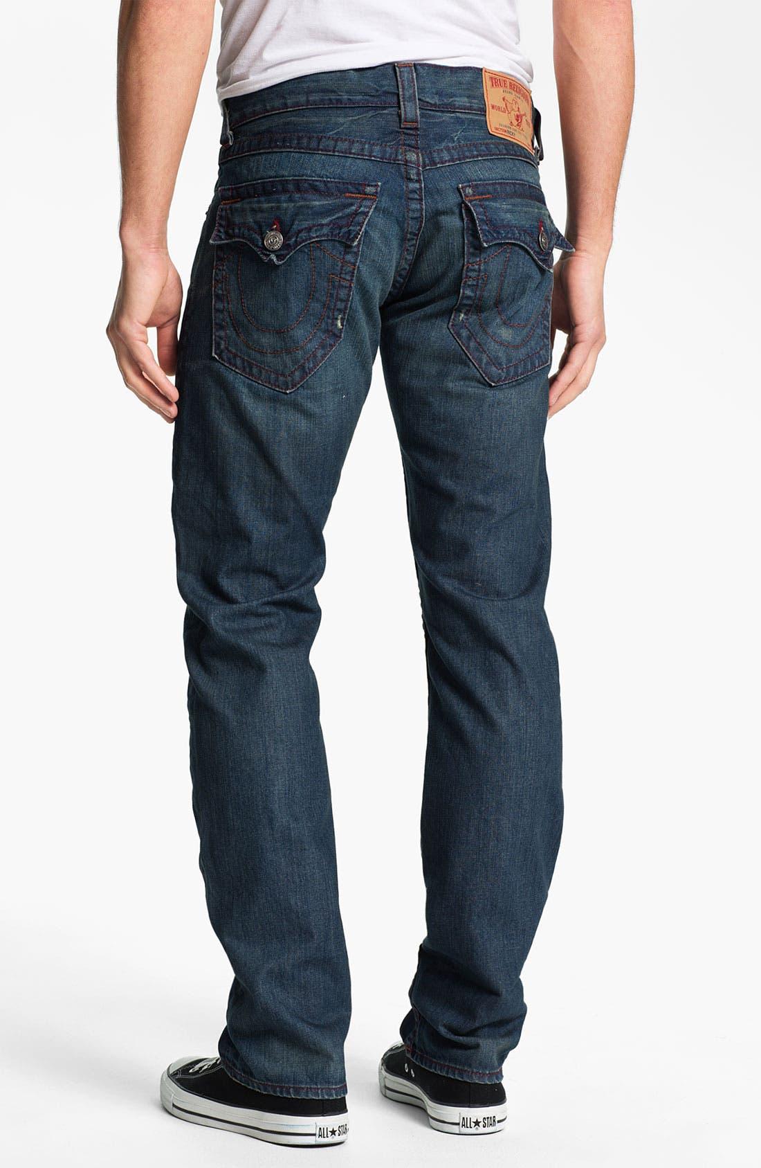 Main Image - True Religion Brand Jeans 'Ricky' Straight Leg Jeans (Dark Drifter)