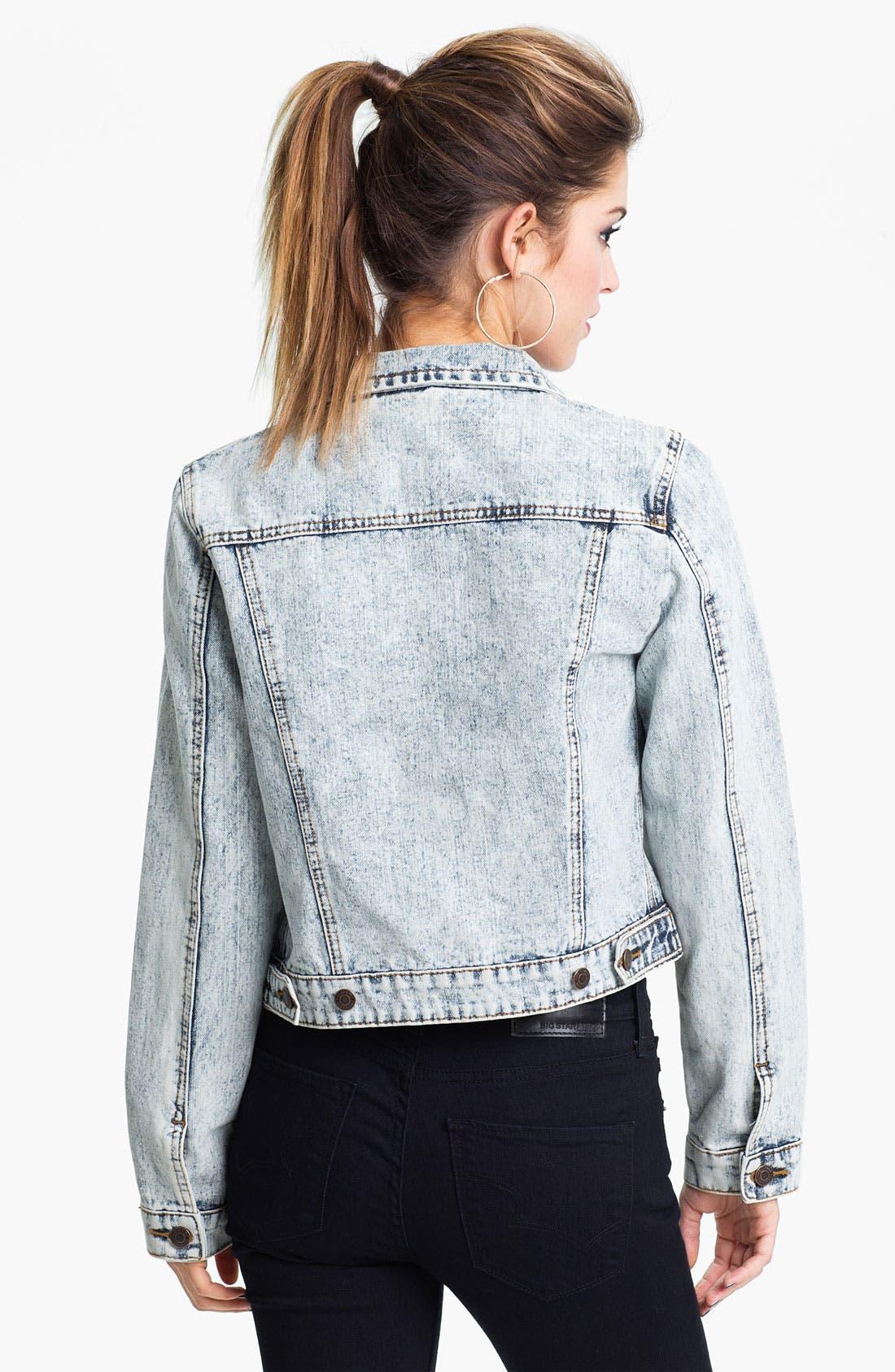 Alternate Image 2  - Thread & Supply Acid Wash Denim Jacket (Juniors)