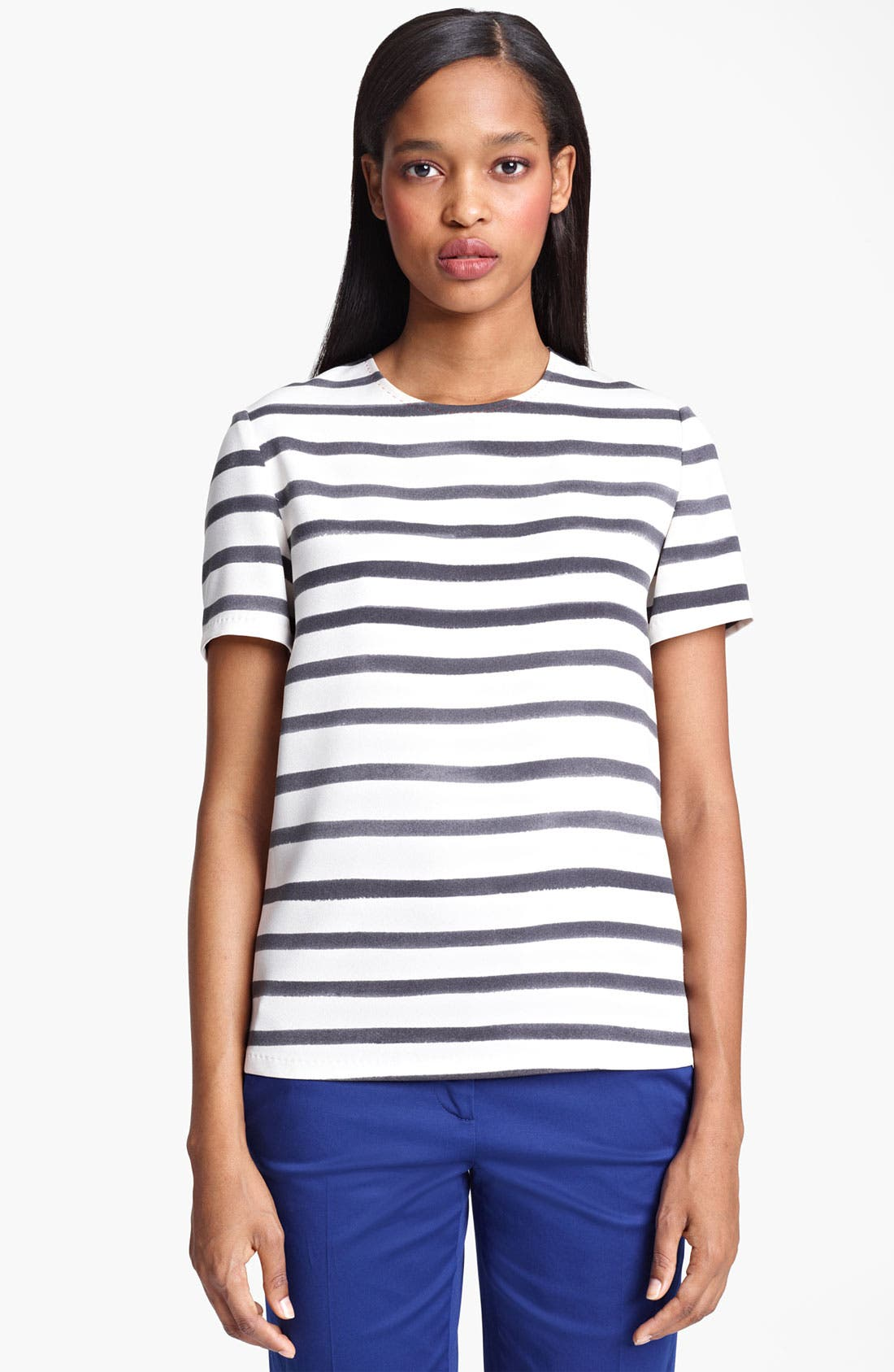 Alternate Image 1 Selected - Moschino Cheap & Chic Stripe Cady Top