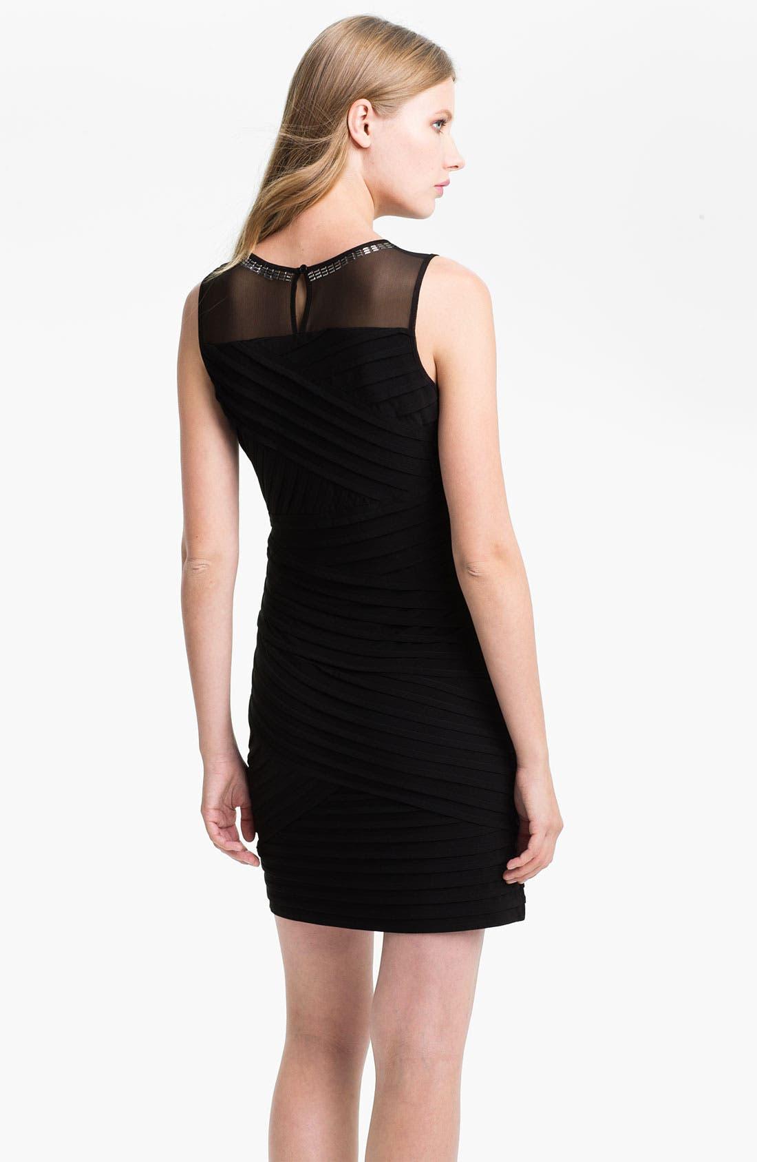 Alternate Image 2  - Calvin Klein Illusion Yoke Pleated Sheath Dress