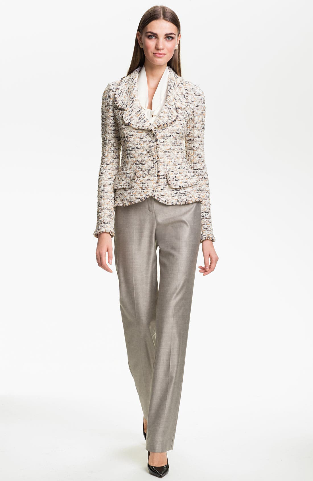 Alternate Image 2  - St. John Collection Fringe Tweed Jacket