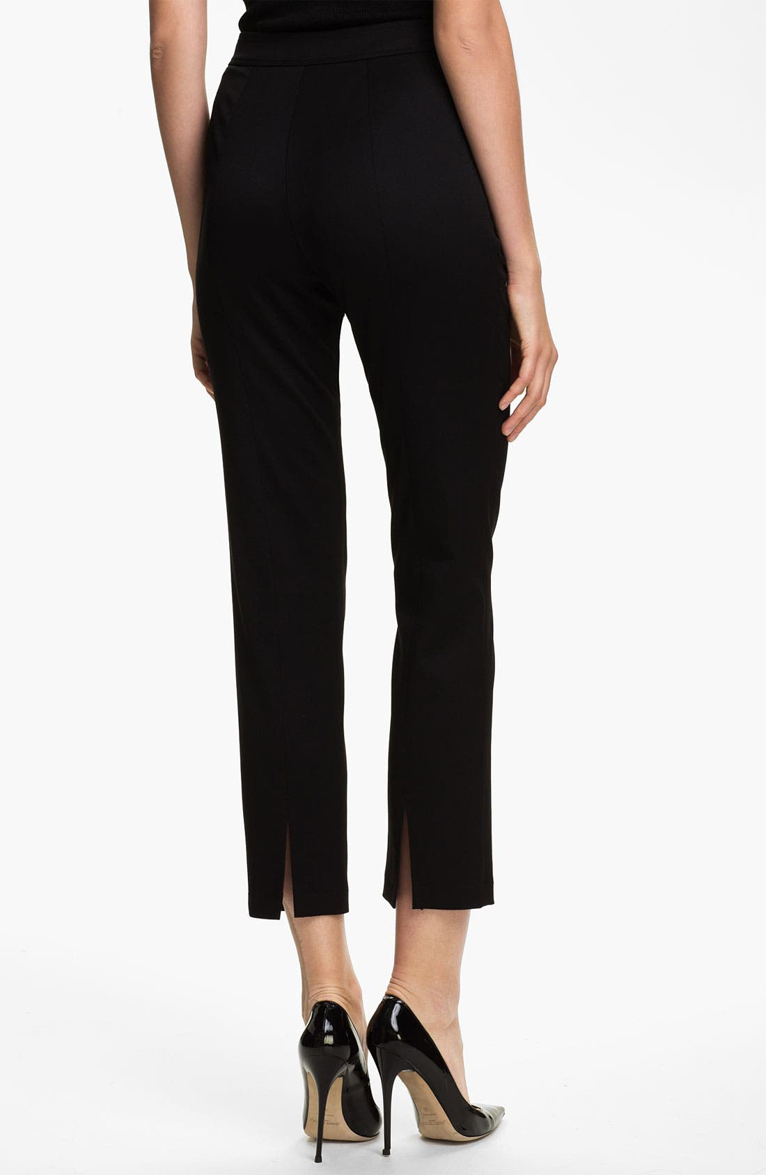 Alternate Image 3  - St. John Collection 'Alexa' Stretch Venetian Wool Ankle Pants