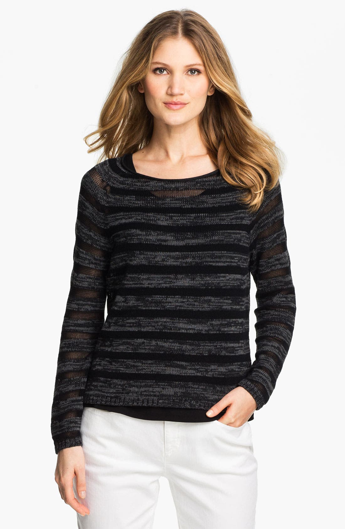 Alternate Image 1 Selected - Eileen Fisher Organic Cotton Sweater
