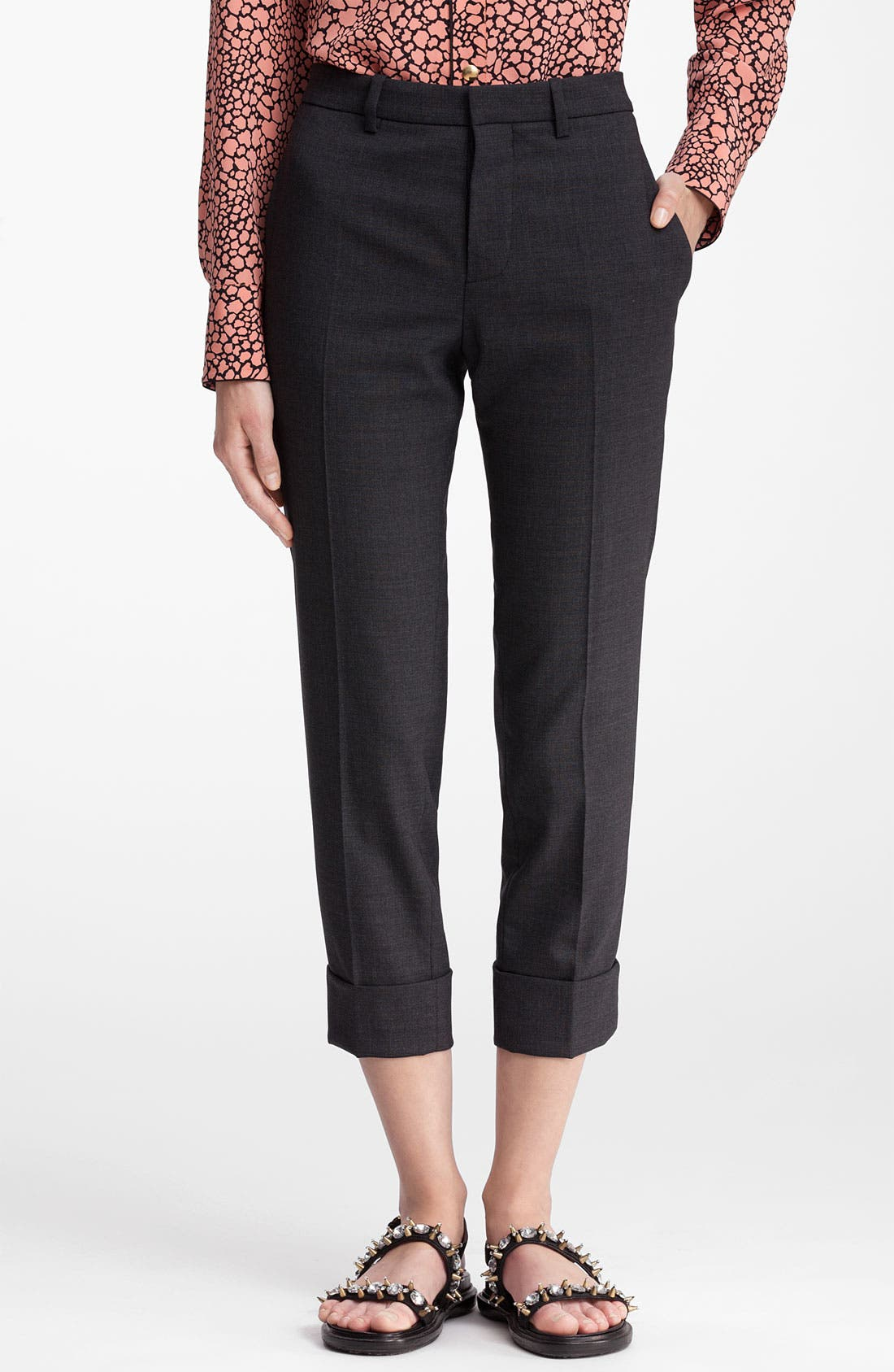 Main Image - Marni Cuff Crop Wool Pants