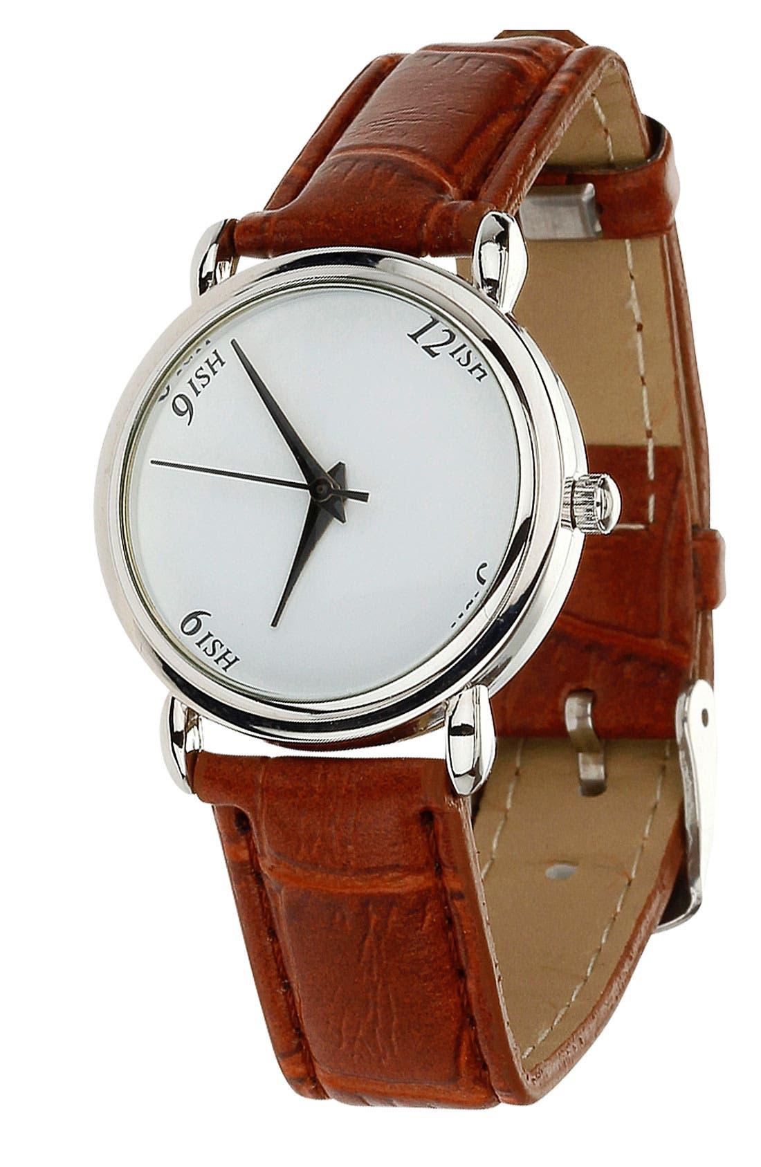 Main Image - Topman 'Ish' Leather Watch