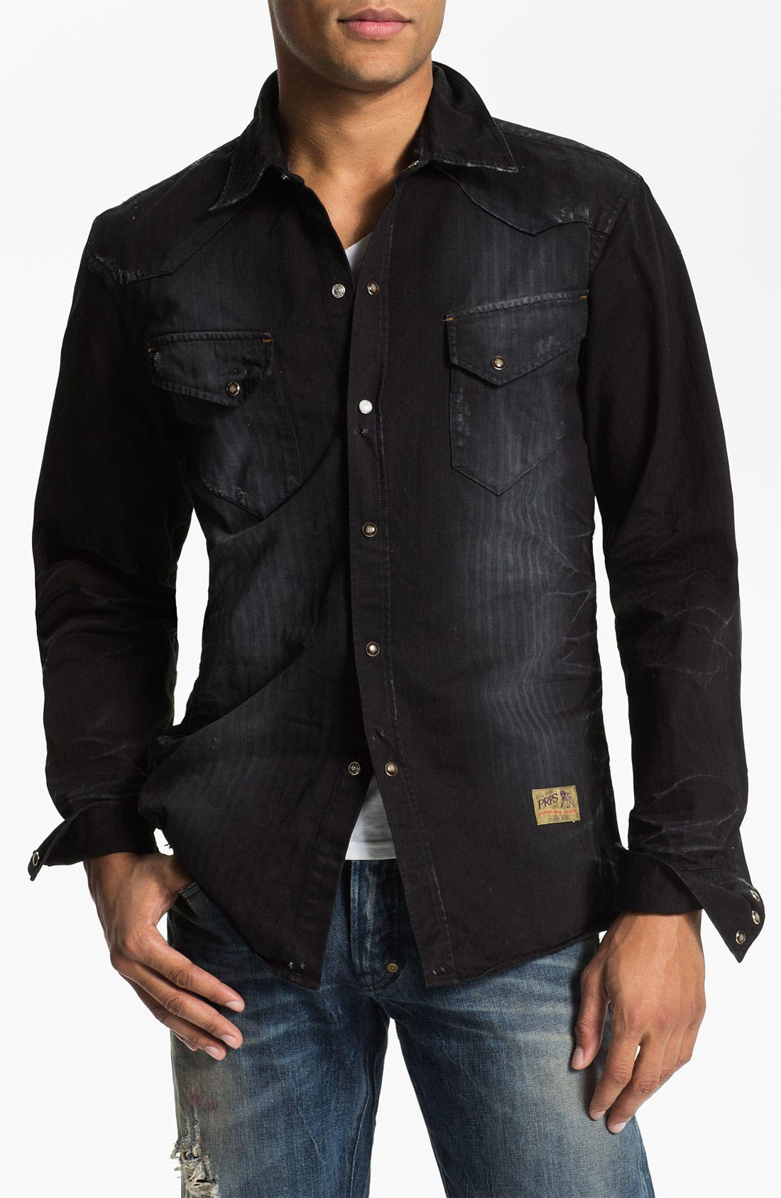 Alternate Image 1 Selected - PRPS Washed Western Shirt