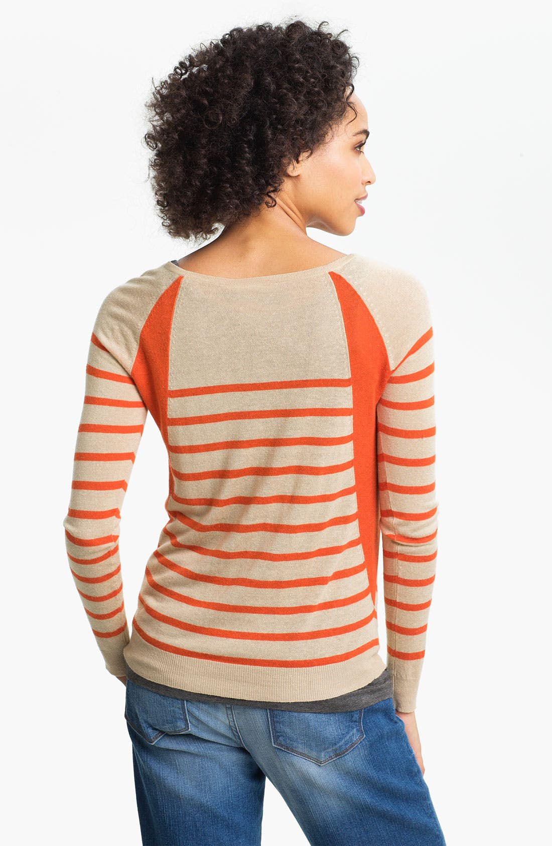 Alternate Image 2  - Two by Vince Camuto Colorblock Stripe Sweater