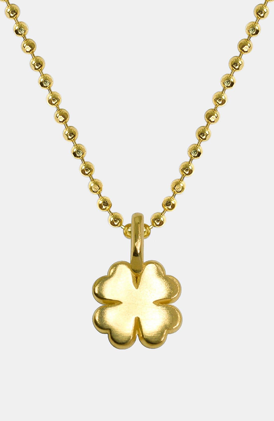 Main Image - Alex Woo 'Mini Clover' 14k Gold Pendant Necklace