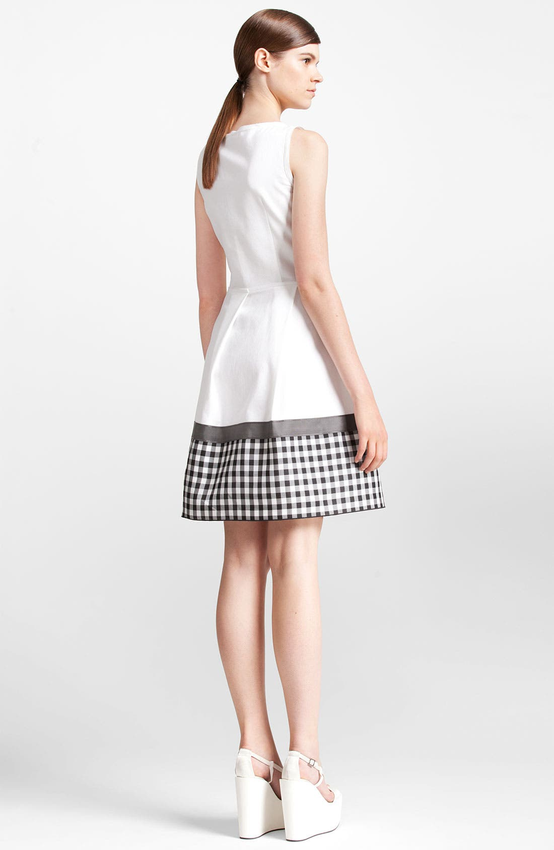 Alternate Image 2  - Jil Sander Navy Check Print Cotton Piqué Shirtdress