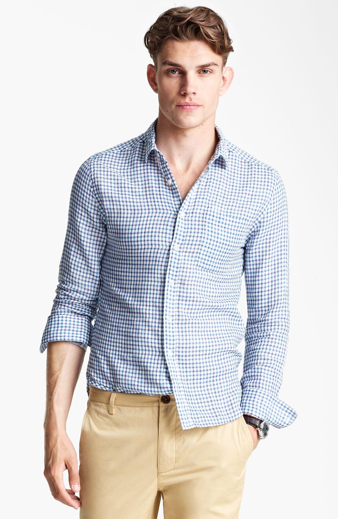 Alternate Image 1 Selected - Shipley & Halmos Plaid Woven Shirt