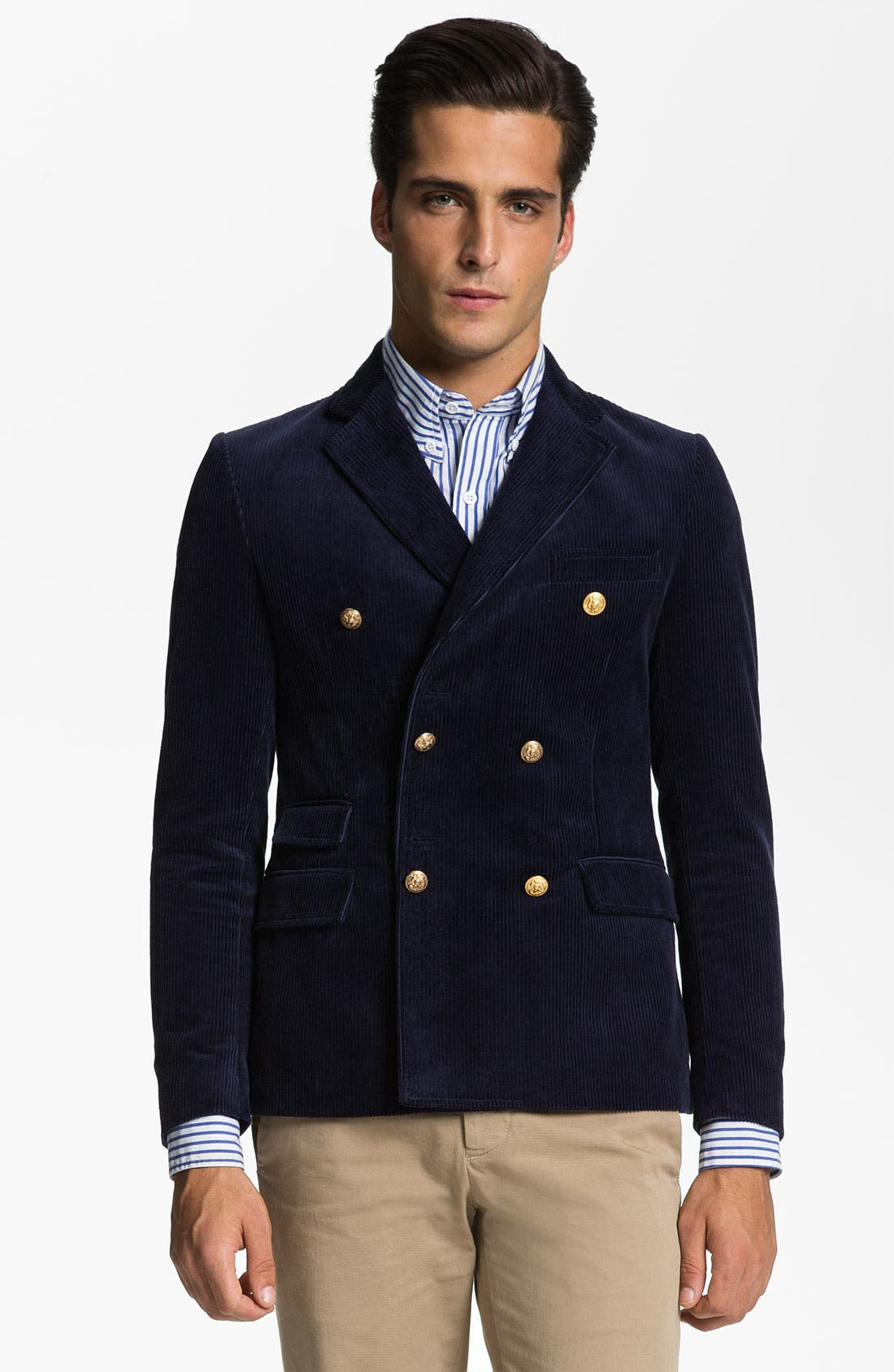 Alternate Image 1 Selected - Band of Outsiders Corduroy Captain's Jacket