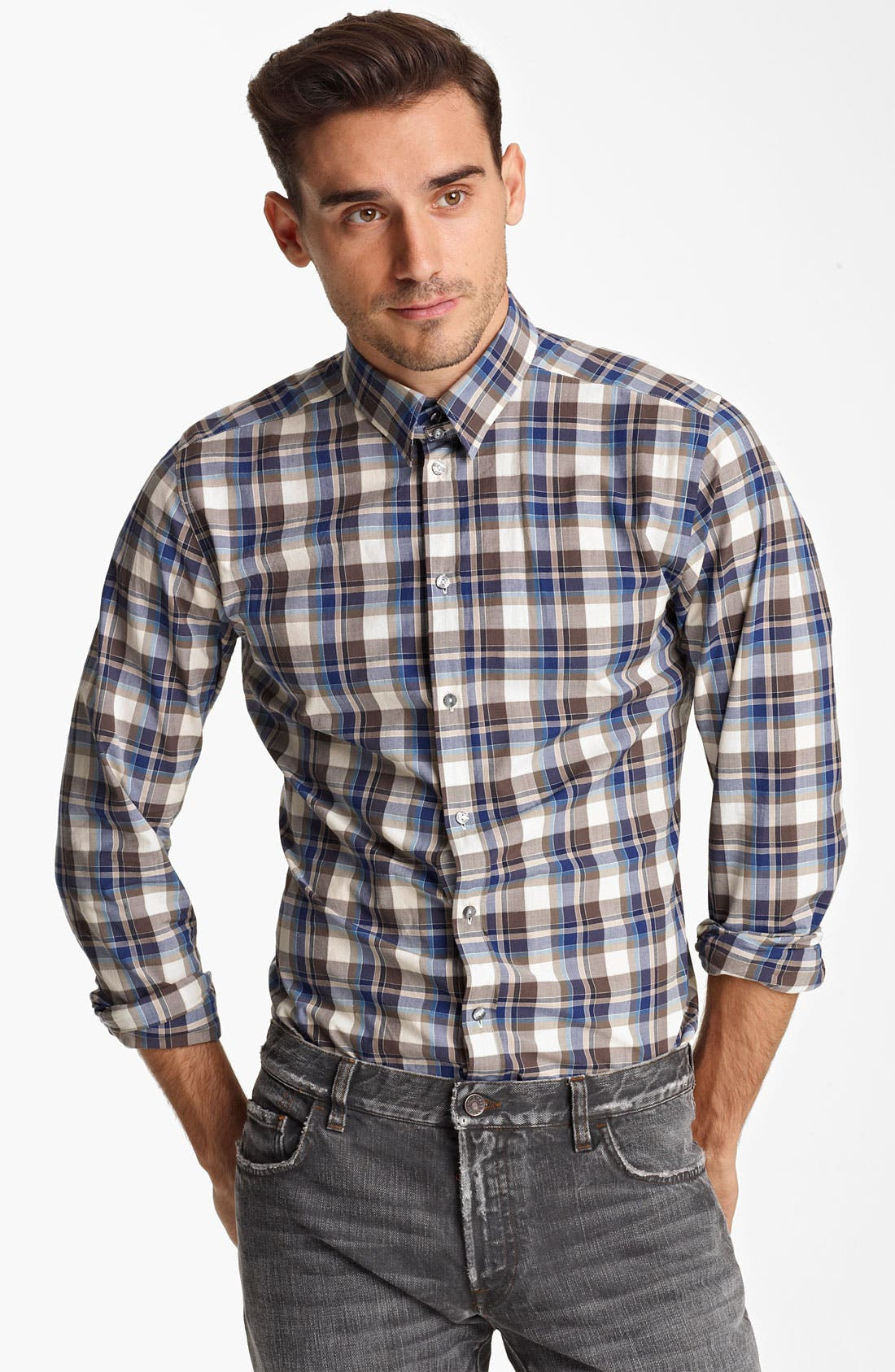 Alternate Image 1 Selected - Dolce&Gabbana Check Woven Shirt