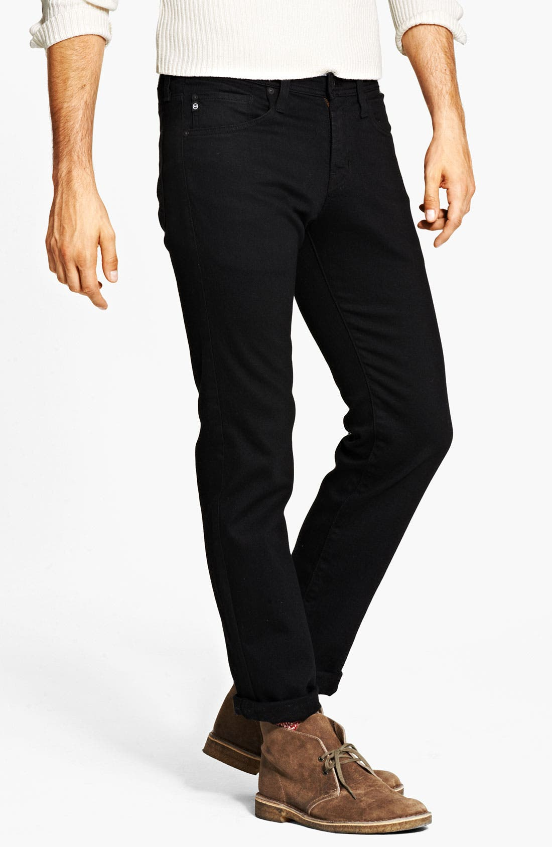 Alternate Image 3  - AG 'Matchbox' Slim Fit Jeans (Coated Black)