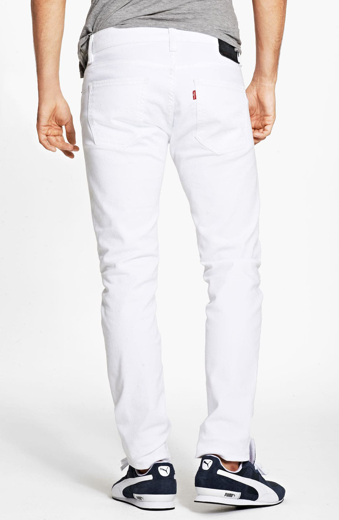 Alternate Image 2  - Levi's® '511™' Skinny Jeans (White)