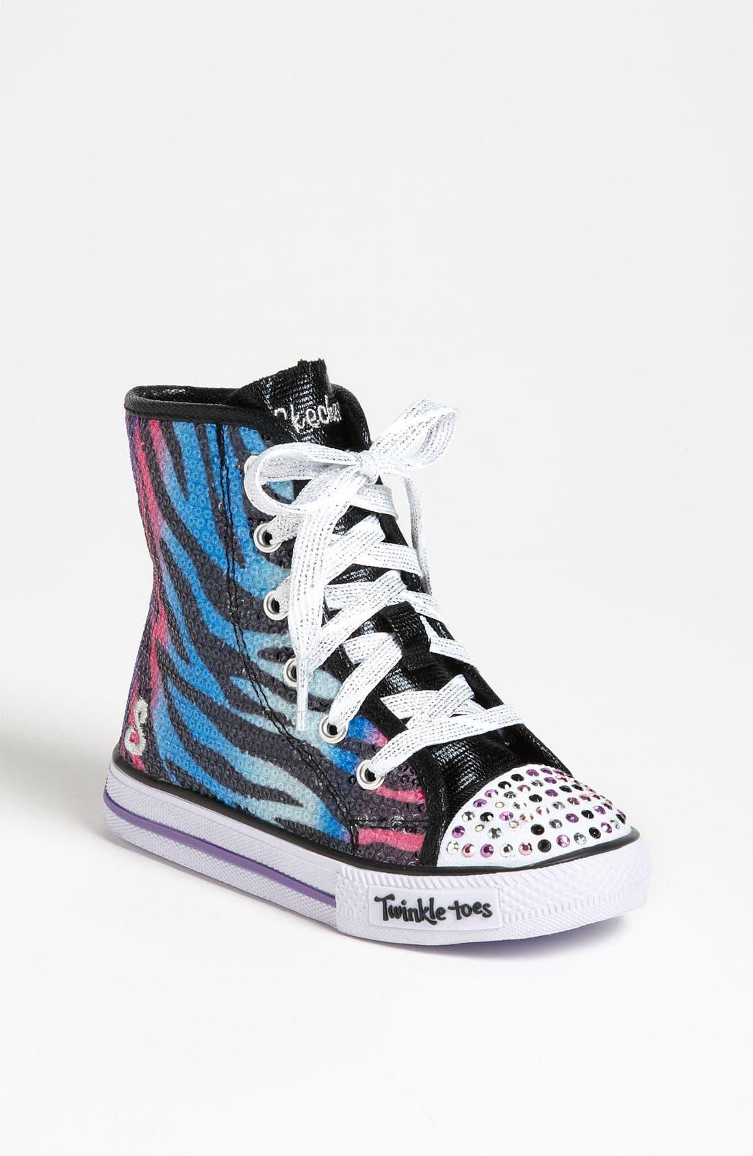 Alternate Image 1 Selected - SKECHERS 'Shuffles - Notorious' Light Up Sneaker (Walker & Toddler)