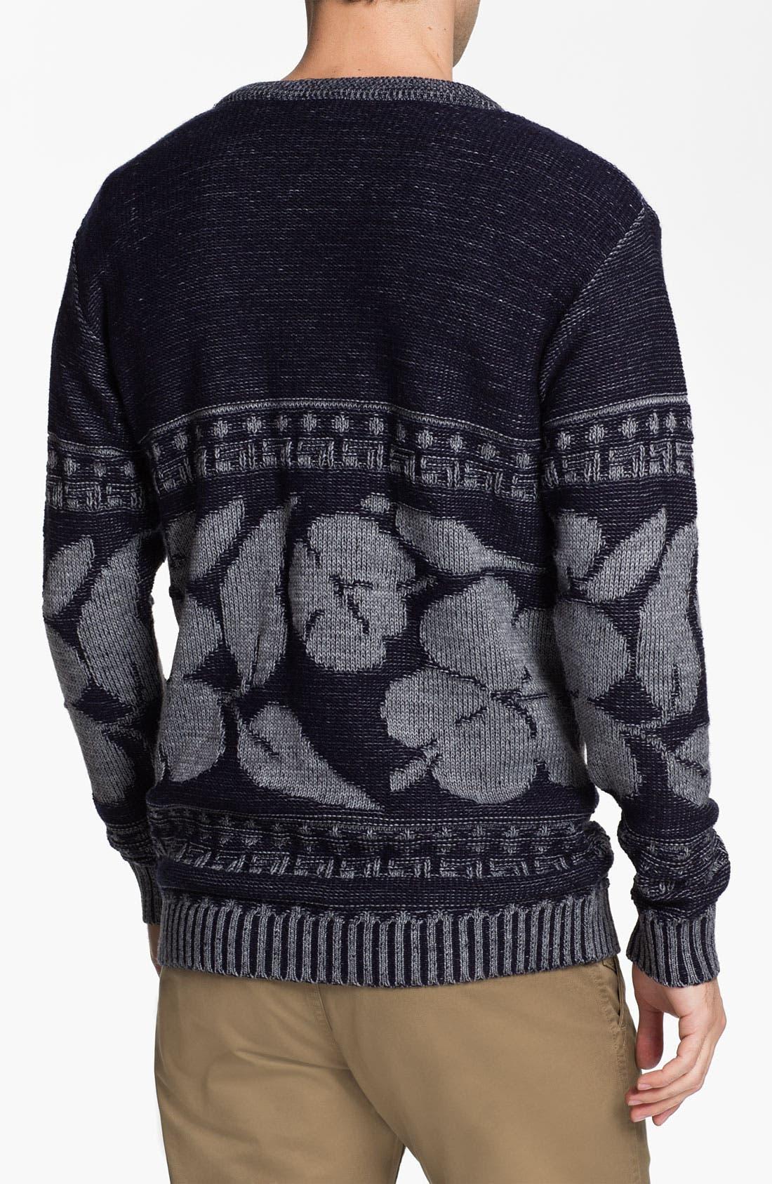 Alternate Image 2  - Vanguard 'Hibiscus' Crewneck Sweater