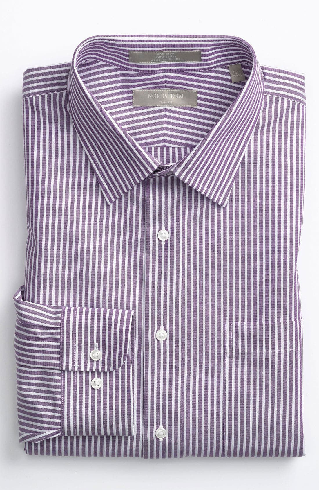 Alternate Image 1 Selected - Nordstrom Trim Fit Non-Iron Dress Shirt (Online Only)