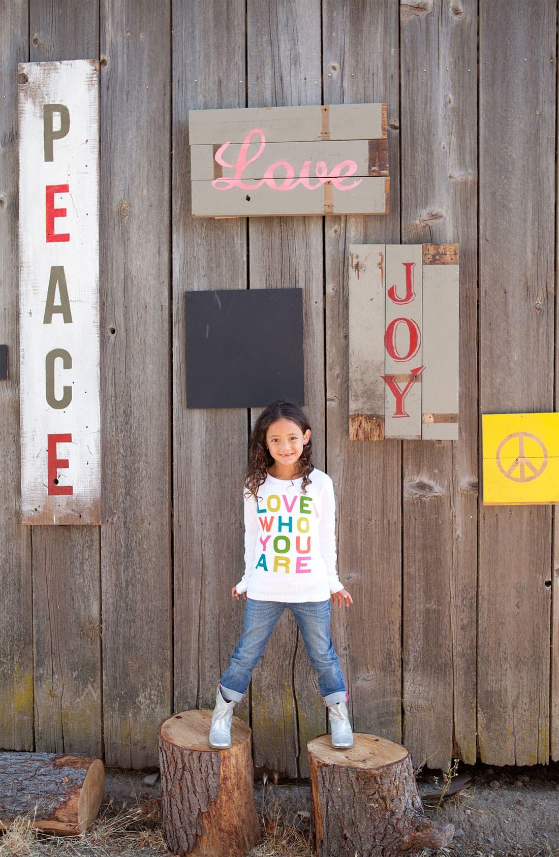 Alternate Image 2  - Peek 'Love Who You Are' Tee (Toddler, Little Girls & Big Girls)