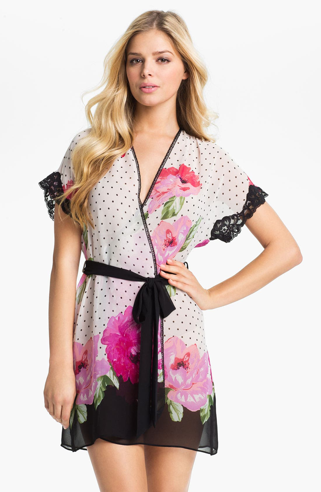 Main Image - In Bloom by Jonquil 'Roses' Short Robe