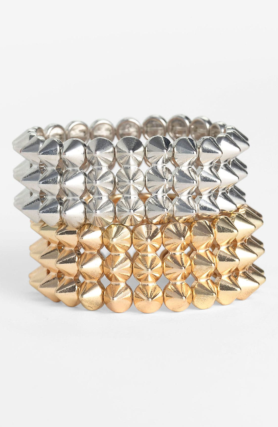 Main Image - Cara Studded Stretch Bracelet