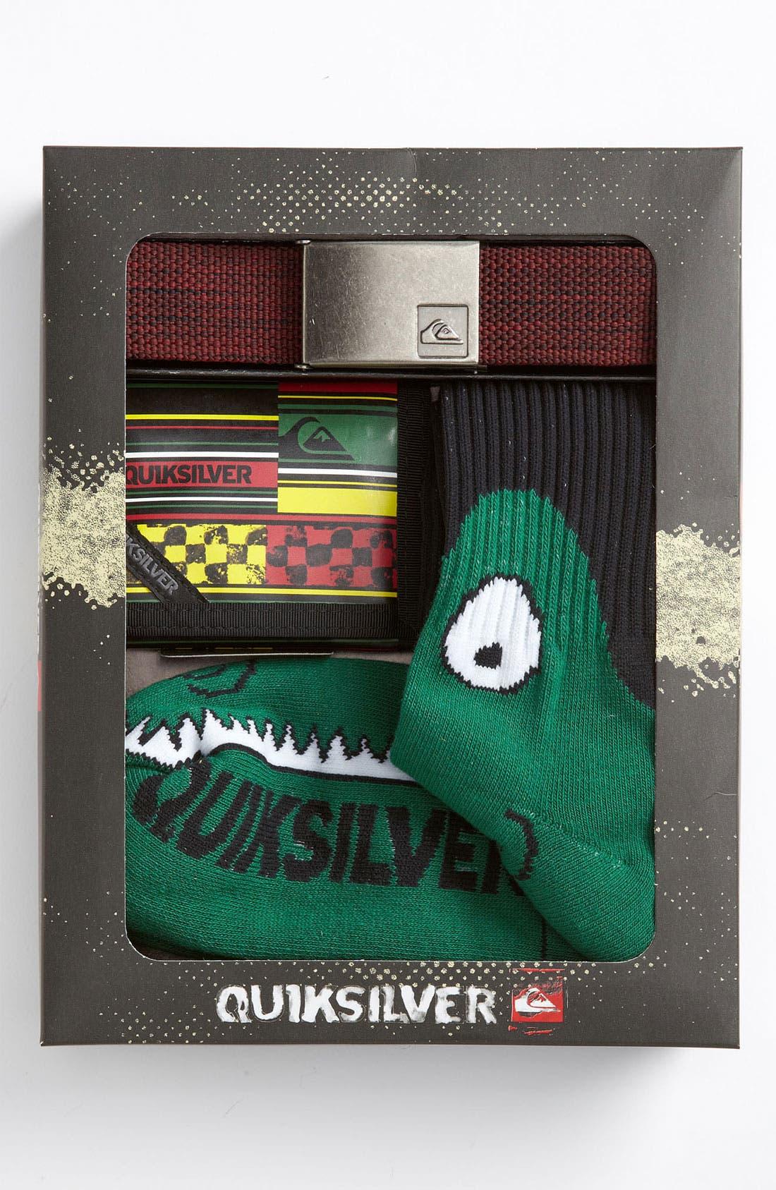 Alternate Image 2  - Quiksilver Belt, Wallet & Socks Gift Pack (Big Boys)