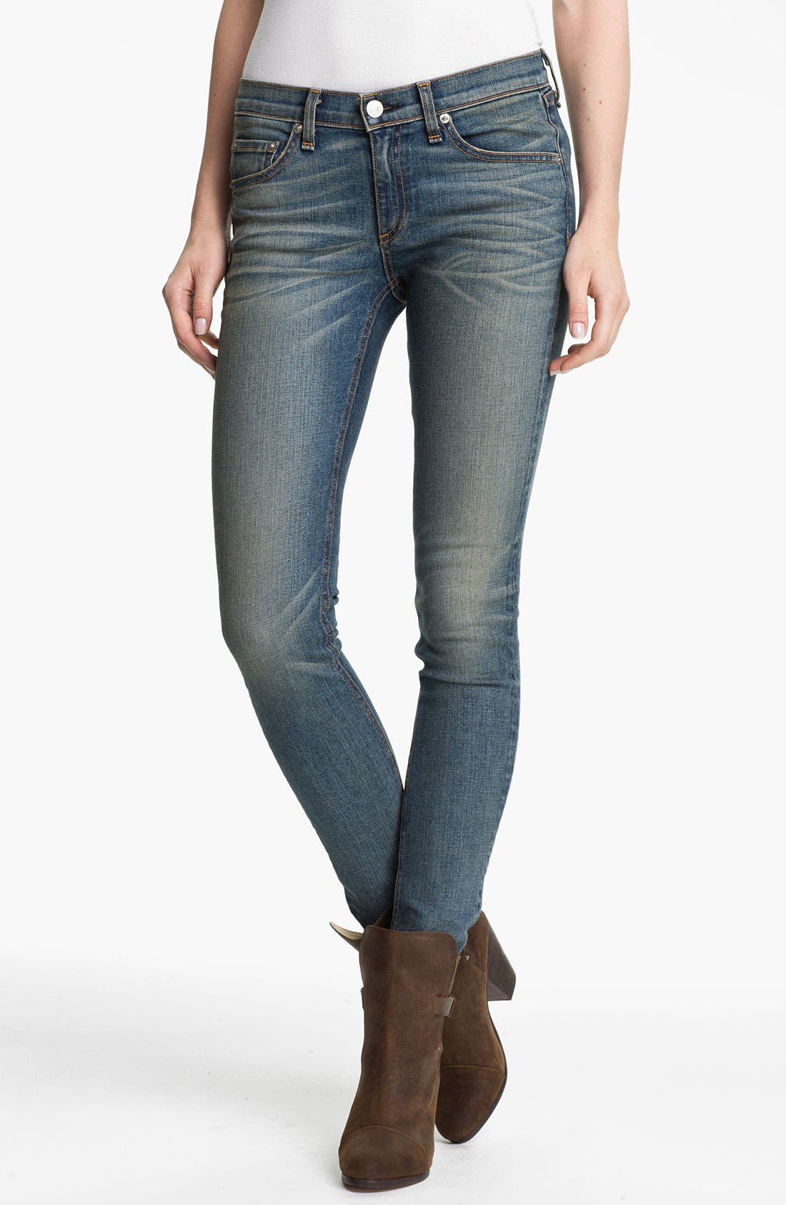 Alternate Image 1 Selected - rag & bone/JEAN Stretch Skinny Jeans