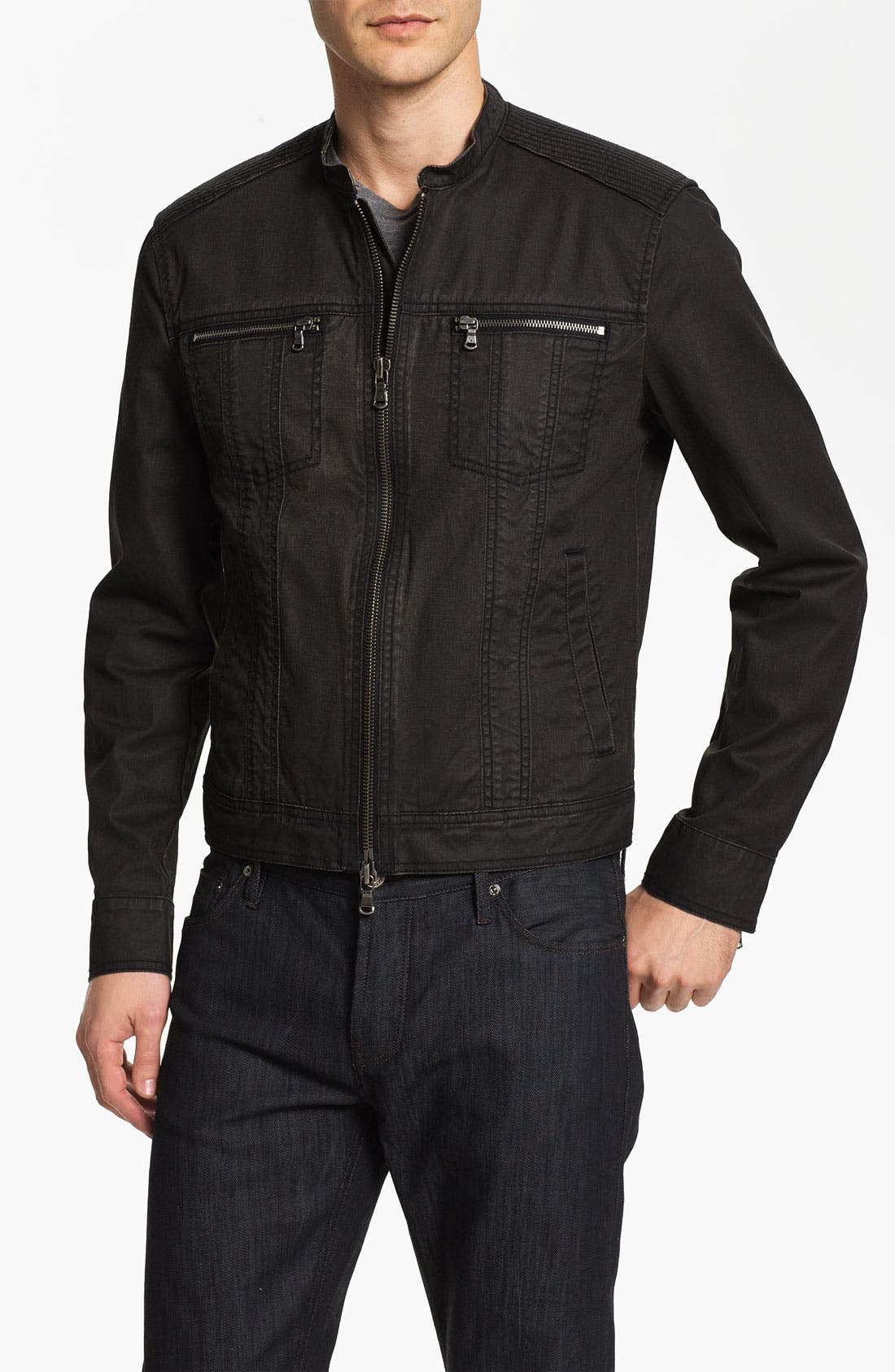 Main Image - John Varvatos Star USA Denim Moto Jacket