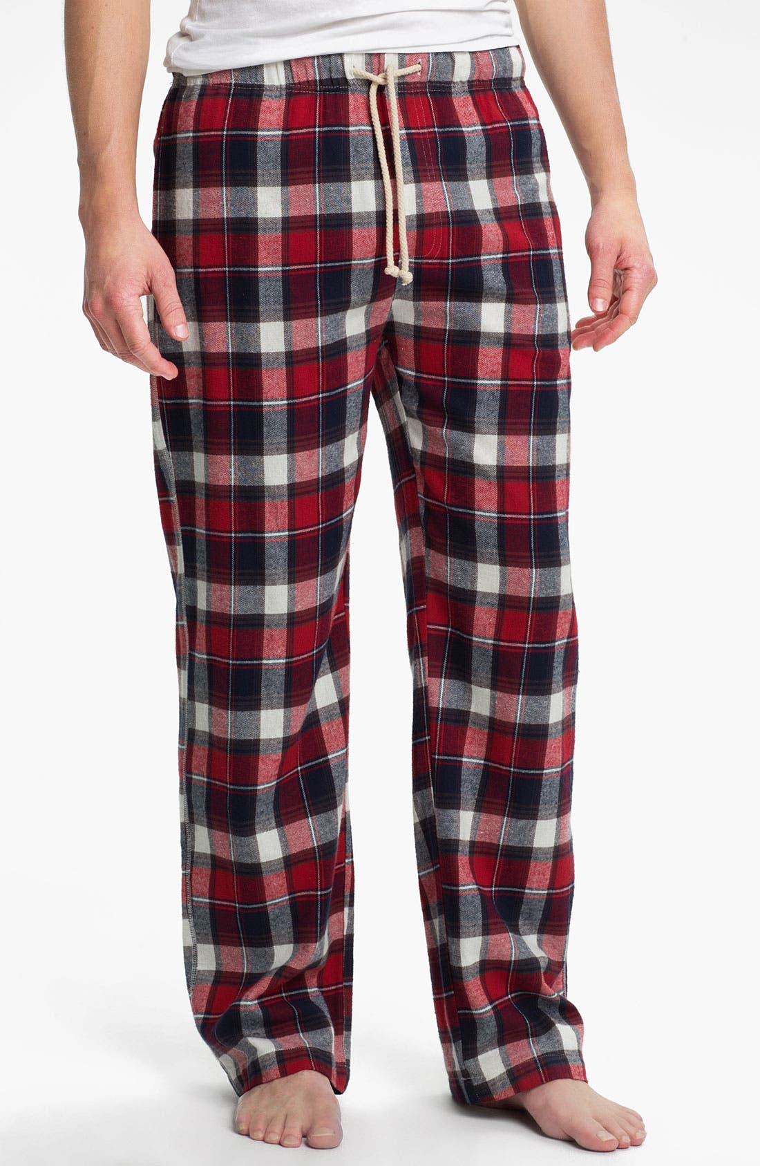 Main Image - Topman 'Pluto' Cotton Flannel Pajama Pants
