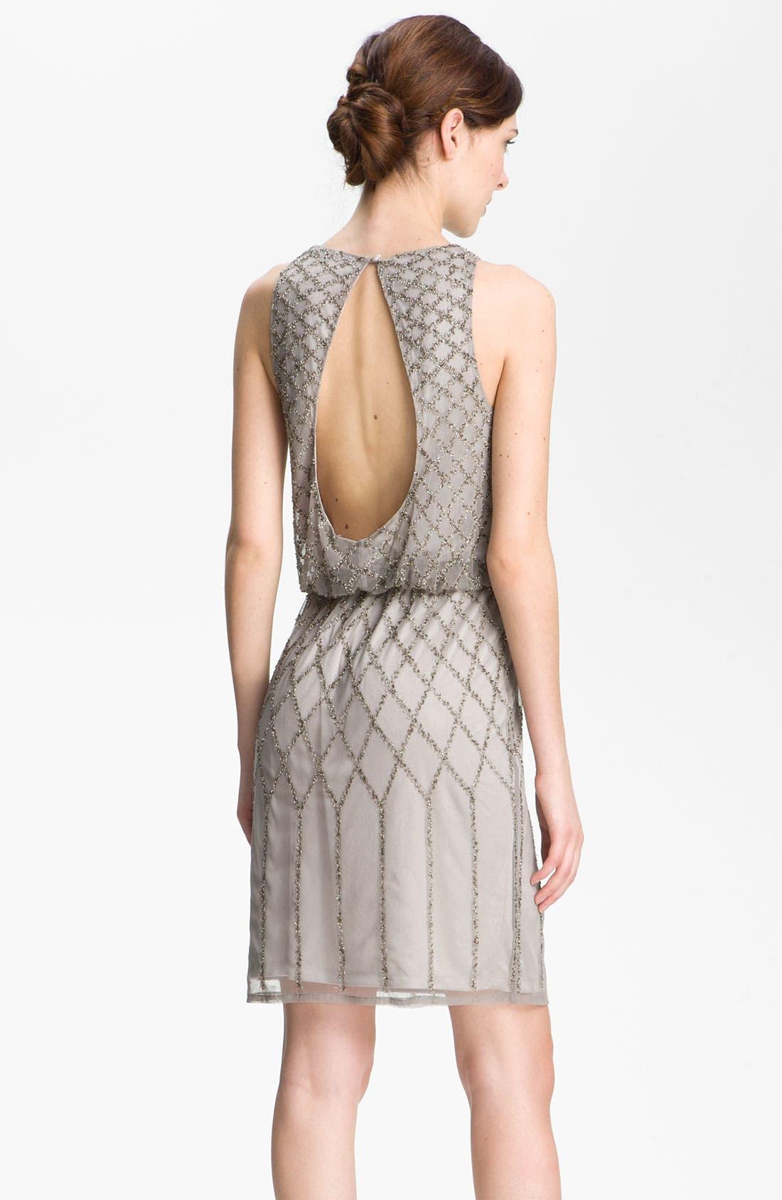 Alternate Image 2  - Adrianna Papell Beaded Blouson Dress (Petite)
