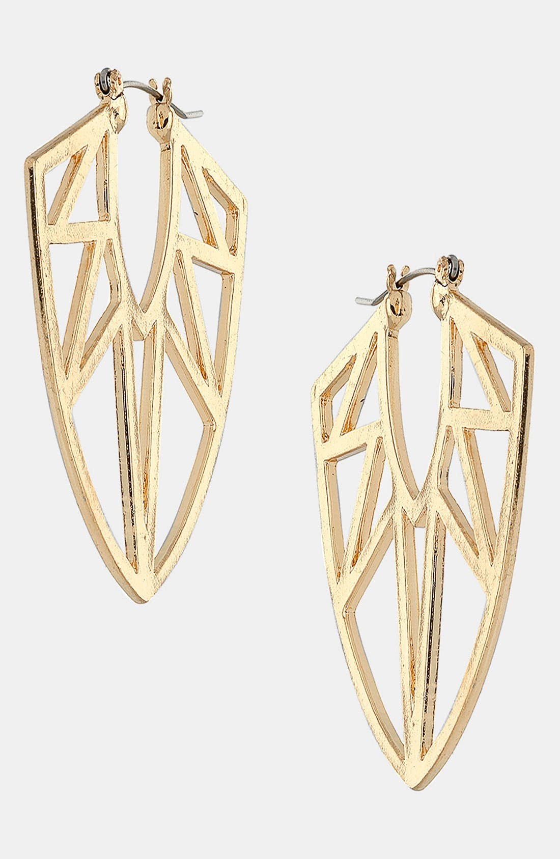 Alternate Image 1 Selected - Topshop 'Geo Triangle' Earrings