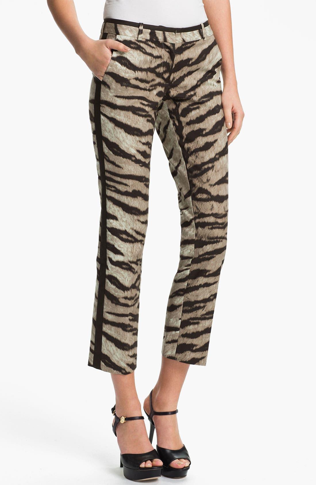 Alternate Image 1 Selected - MICHAEL Michael Kors Tiger Print Ankle Pants