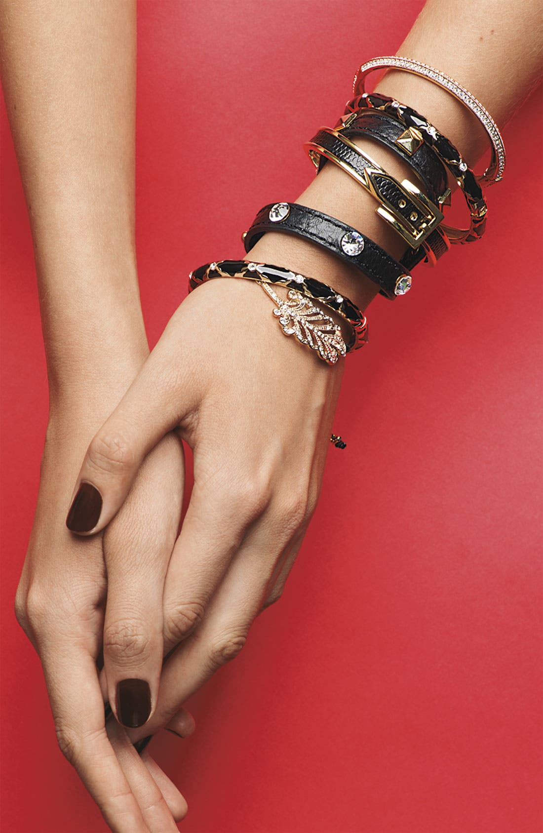 Alternate Image 4  - Cara Leather Wrap Bracelet