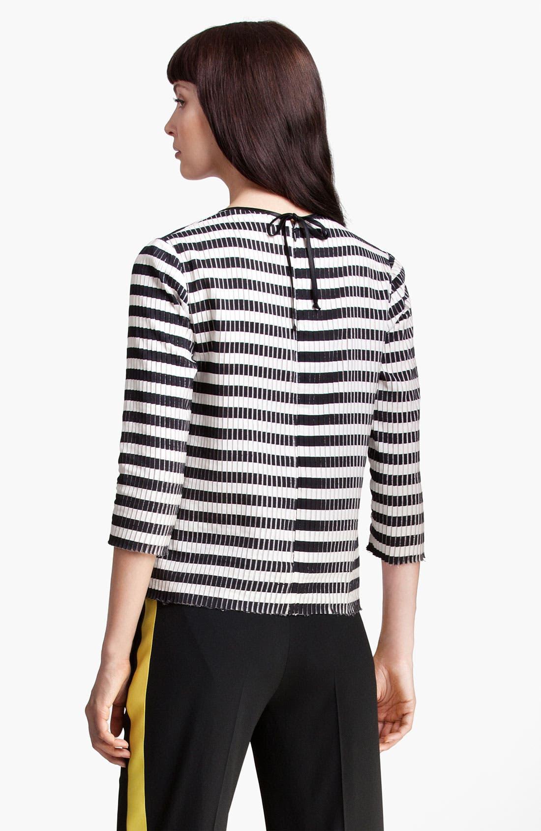 Alternate Image 2  - MSGM Stripe Silk & Cotton Top