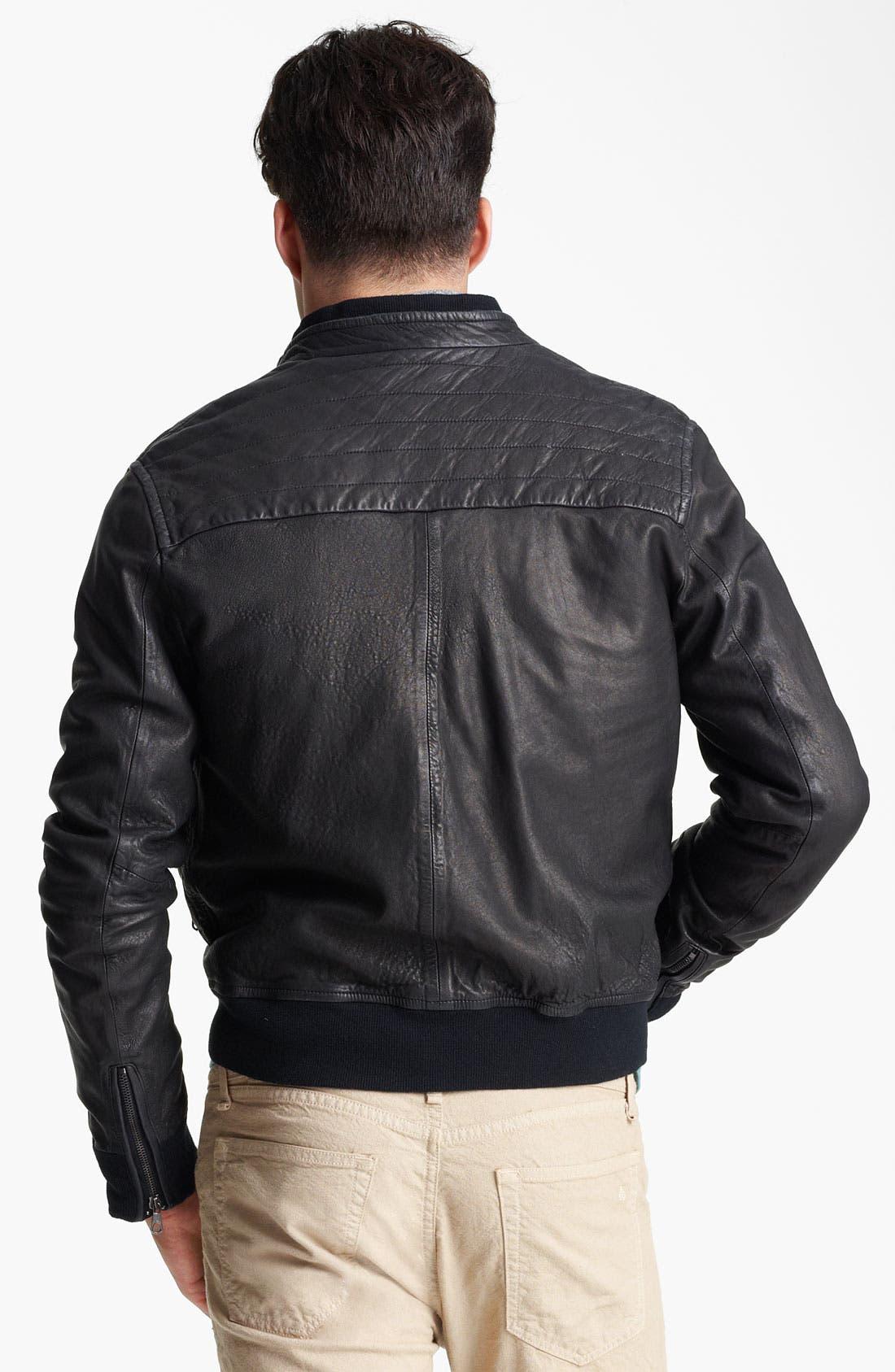 Alternate Image 2  - rag & bone Leather Bomber Jacket